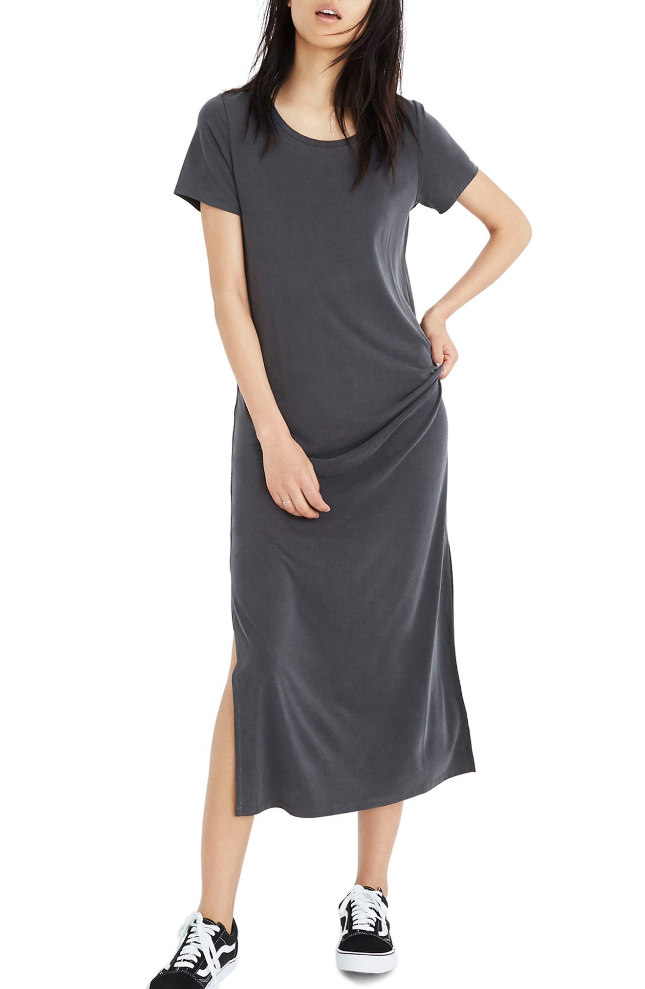 Sandwashed Maxi T-Shirt Dress,                         Main,                         color, 020