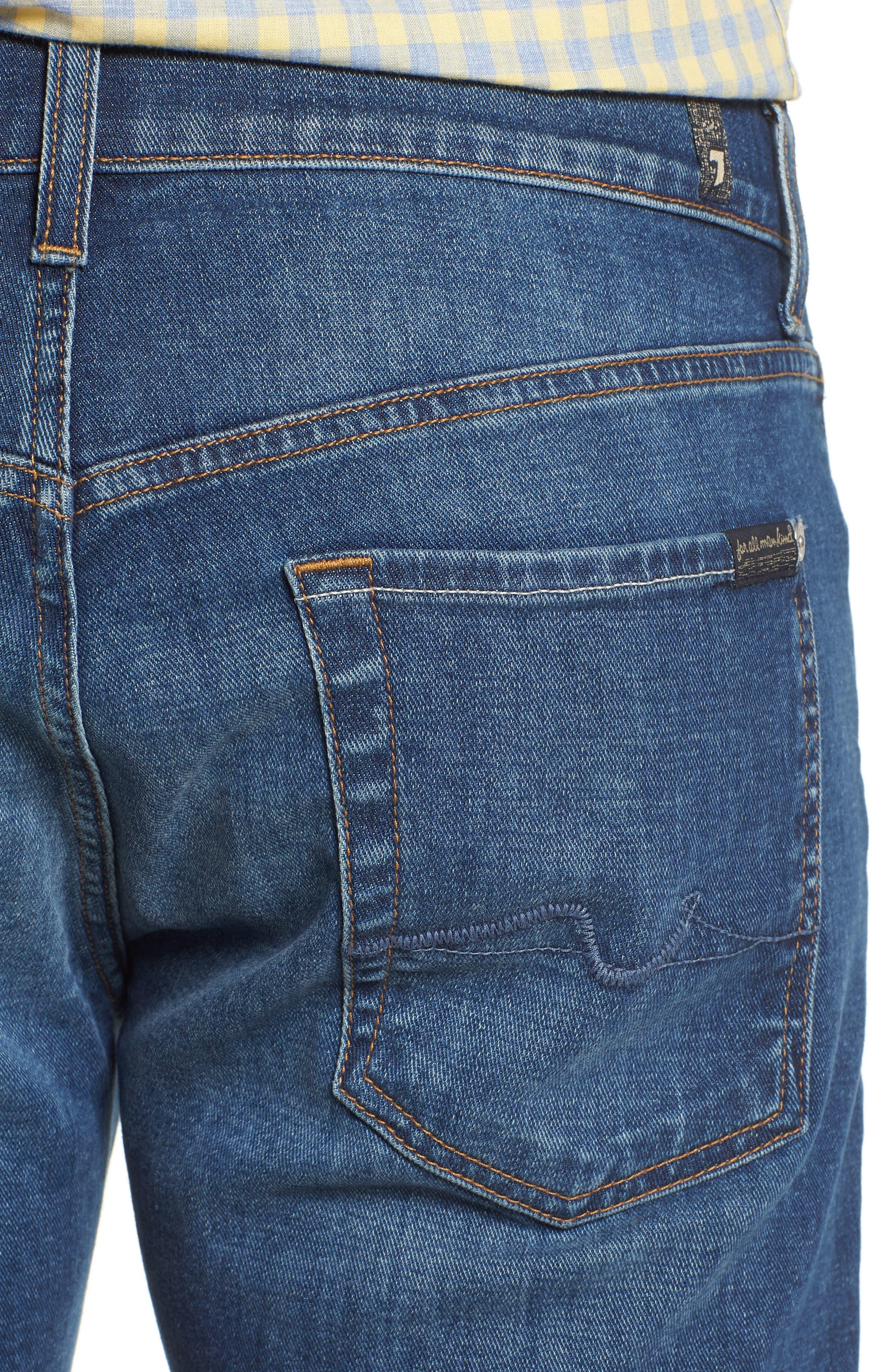 Standard Straight Leg Jeans,                             Alternate thumbnail 4, color,                             400