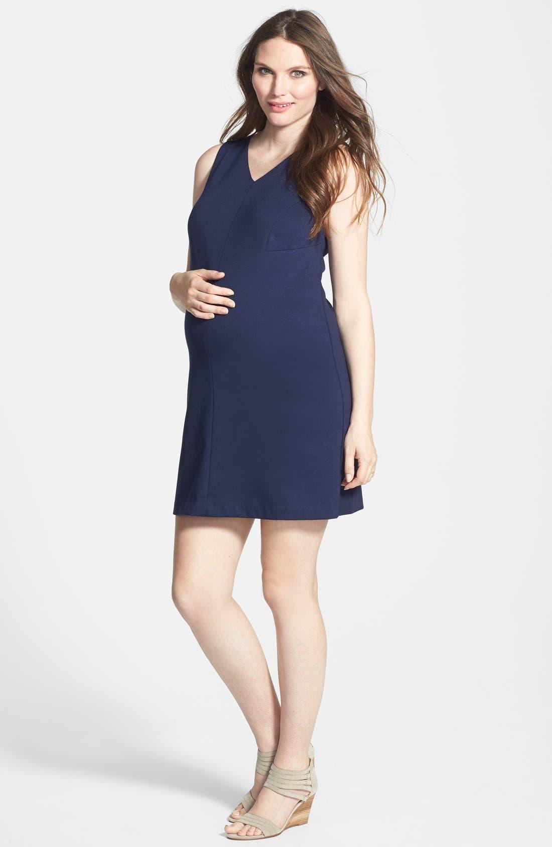 Princess Shift Maternity Dress,                             Main thumbnail 2, color,