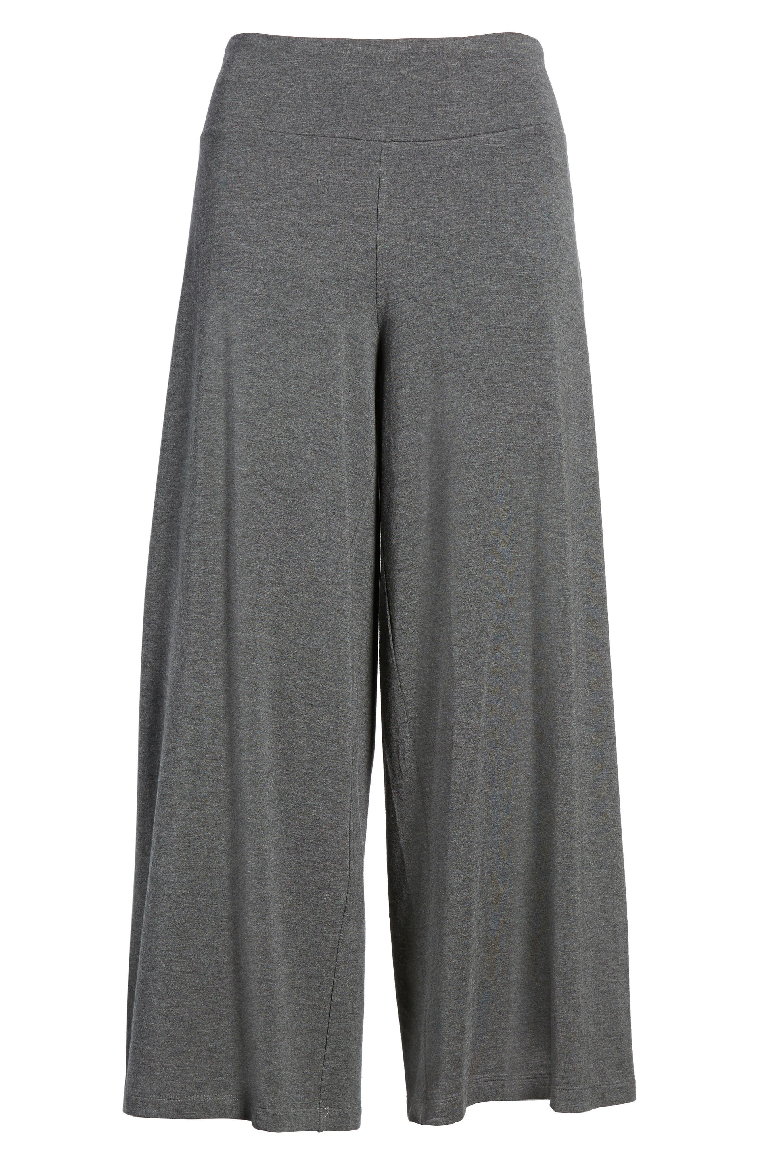 Wide Leg Crop Pants,                             Alternate thumbnail 6, color,                             030