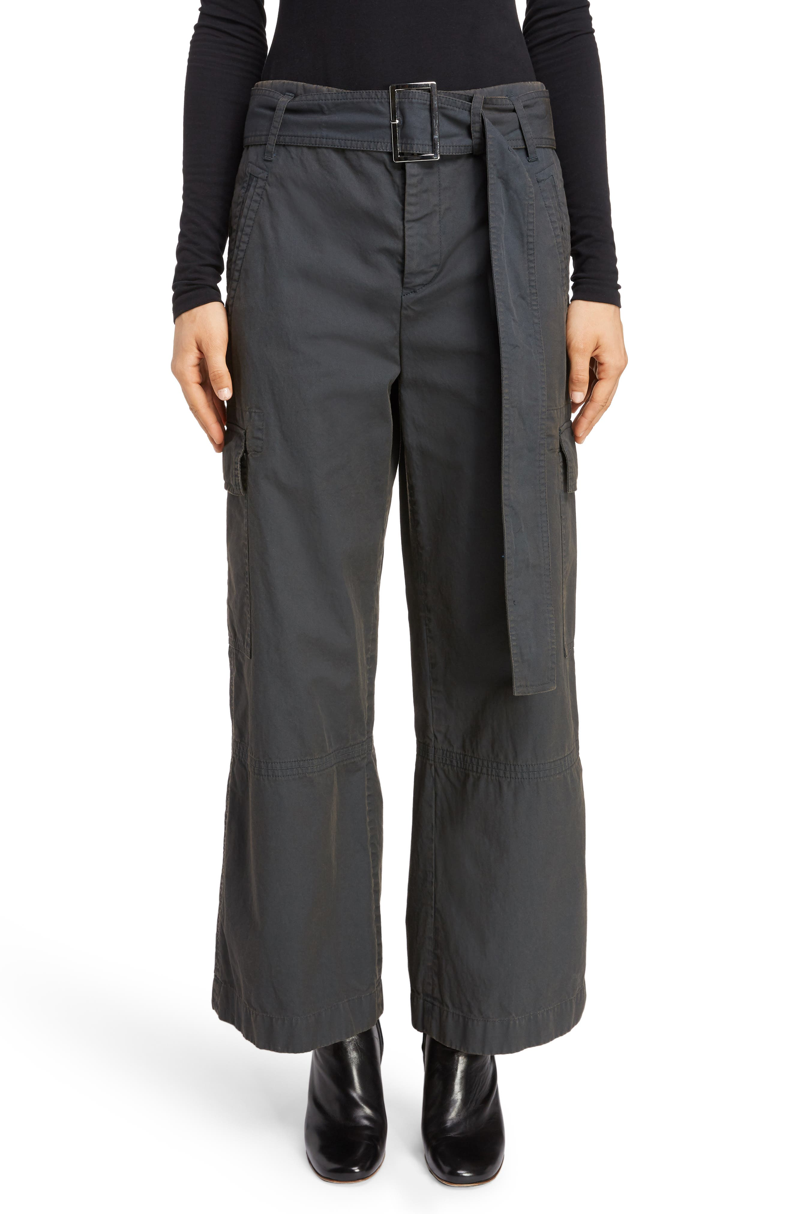 ACNE STUDIOS Patrice Cotton Chino Trousers, Main, color, ANTHRACITE GREY