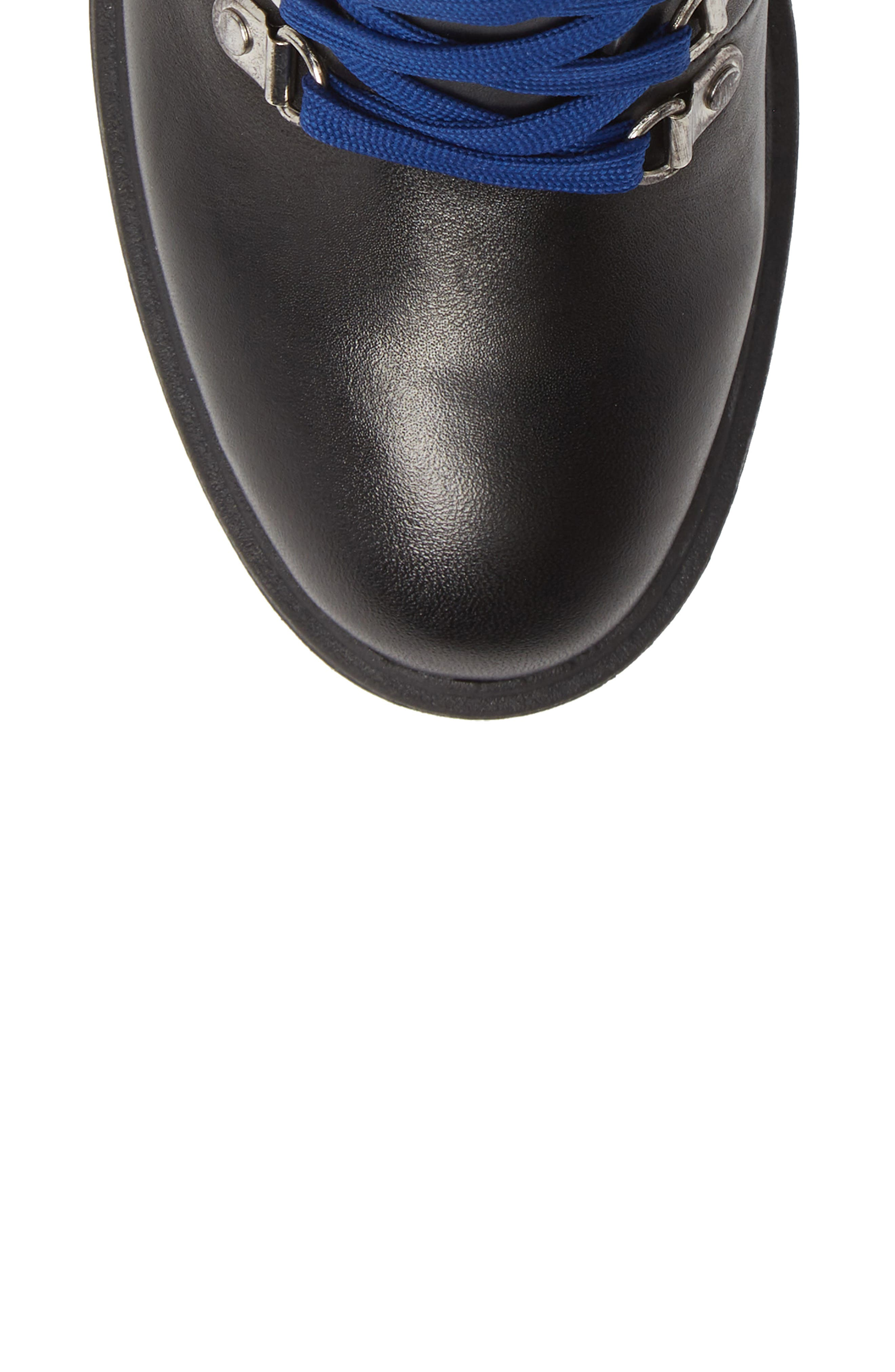 Royce Bootie,                             Alternate thumbnail 5, color,                             BLACK LEATHER