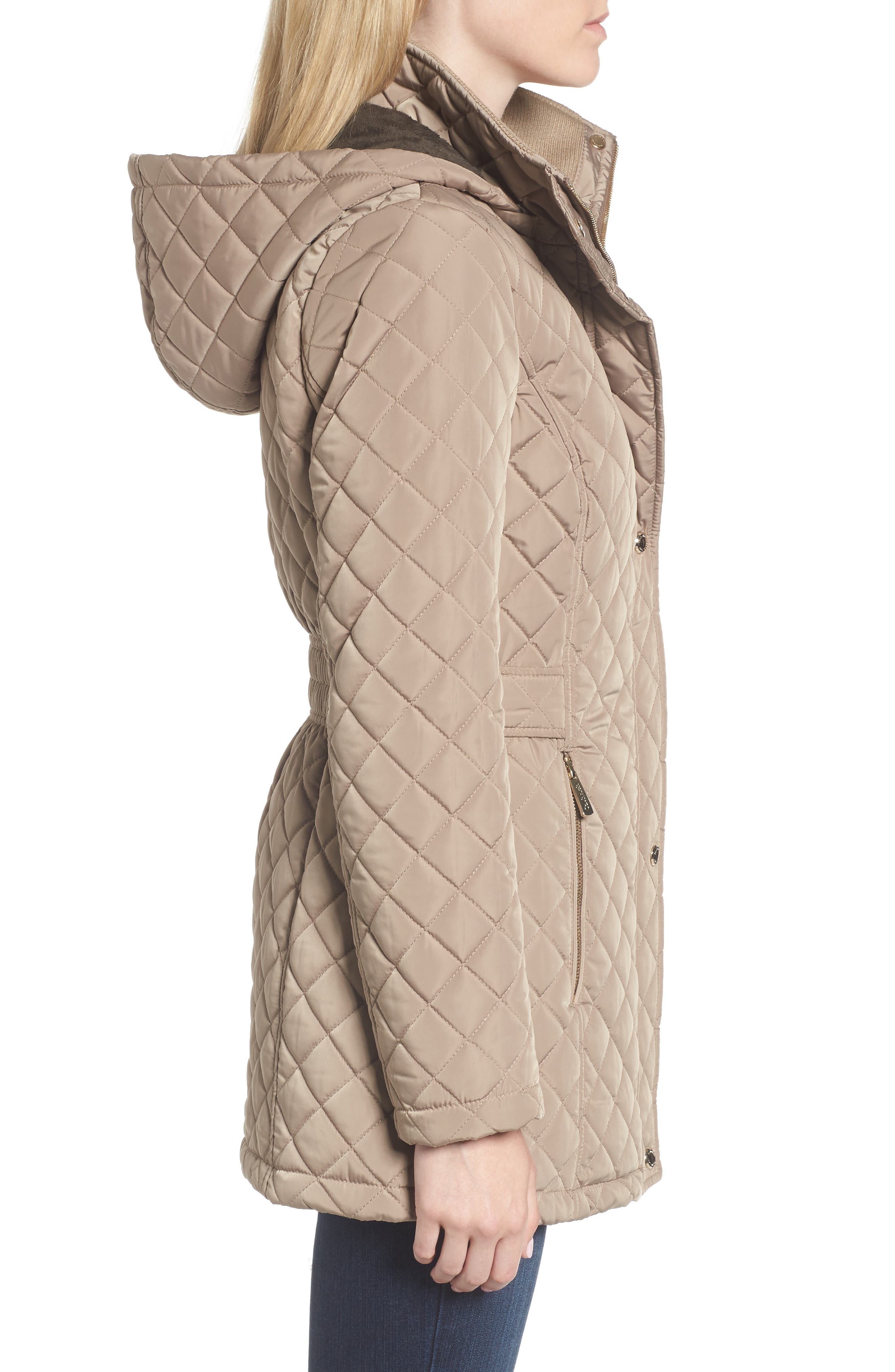 Hooded Quilted Jacket,                             Alternate thumbnail 23, color,