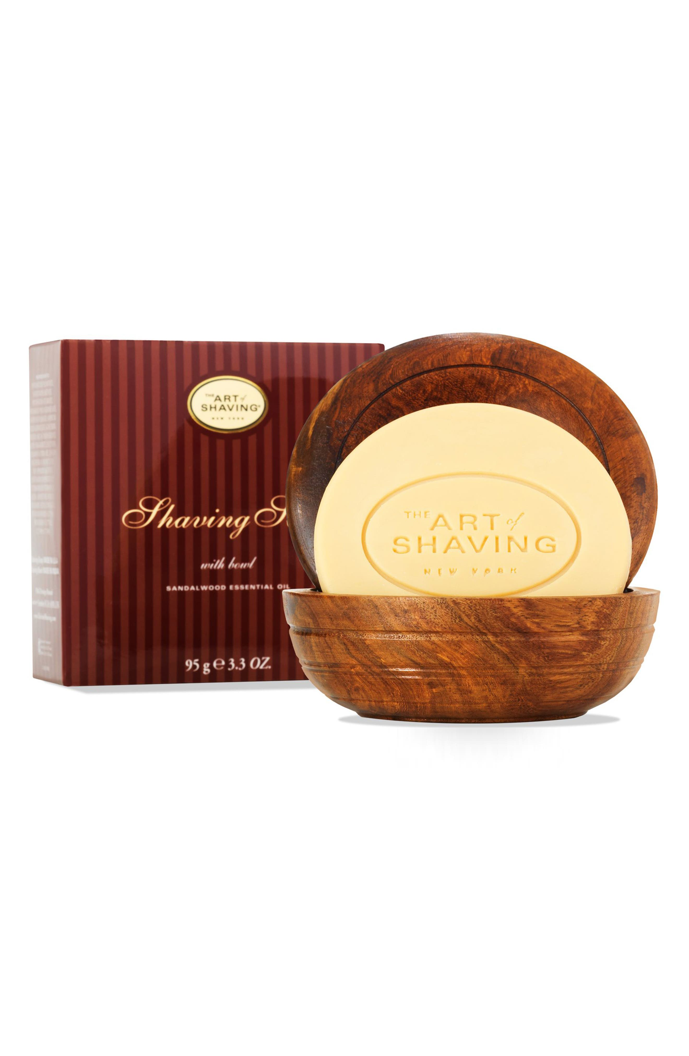 Shaving Soap with Bowl,                         Main,                         color, SANDALWOOD