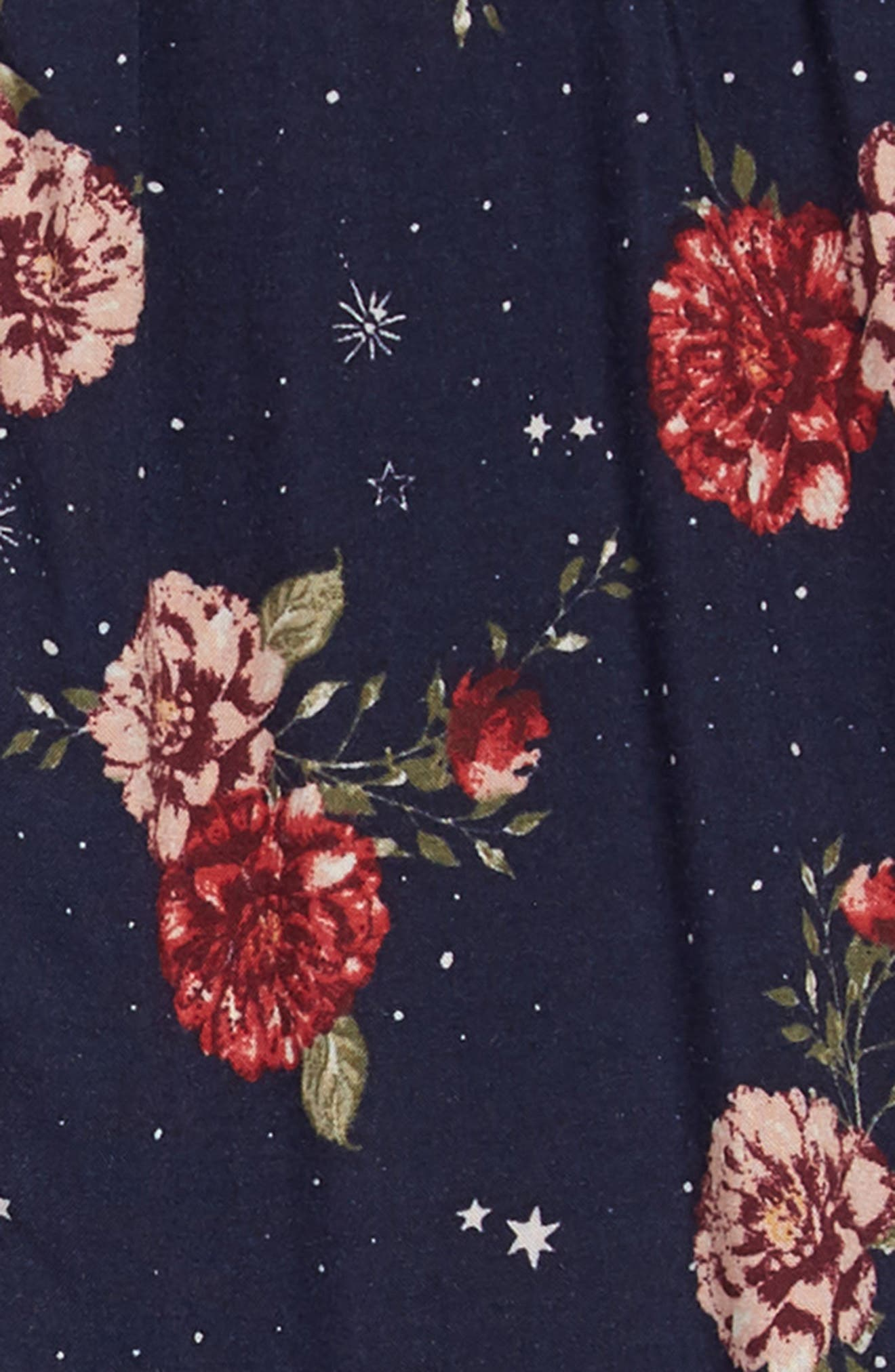 Cosmic Floral Dress,                             Alternate thumbnail 3, color,                             NAVY FLORAL