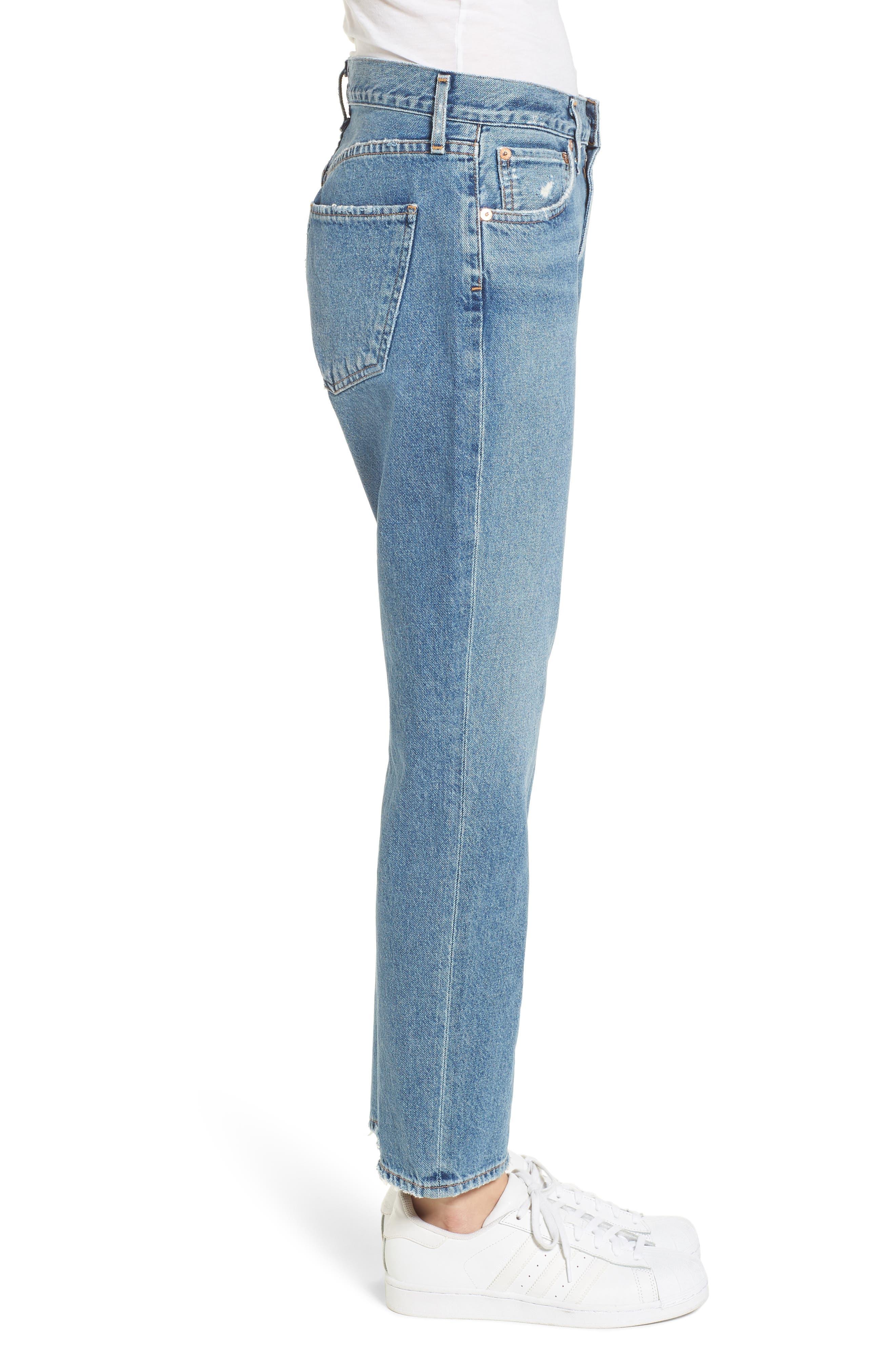 Cigarette High Waist Jeans,                             Alternate thumbnail 3, color,                             PASSENGER