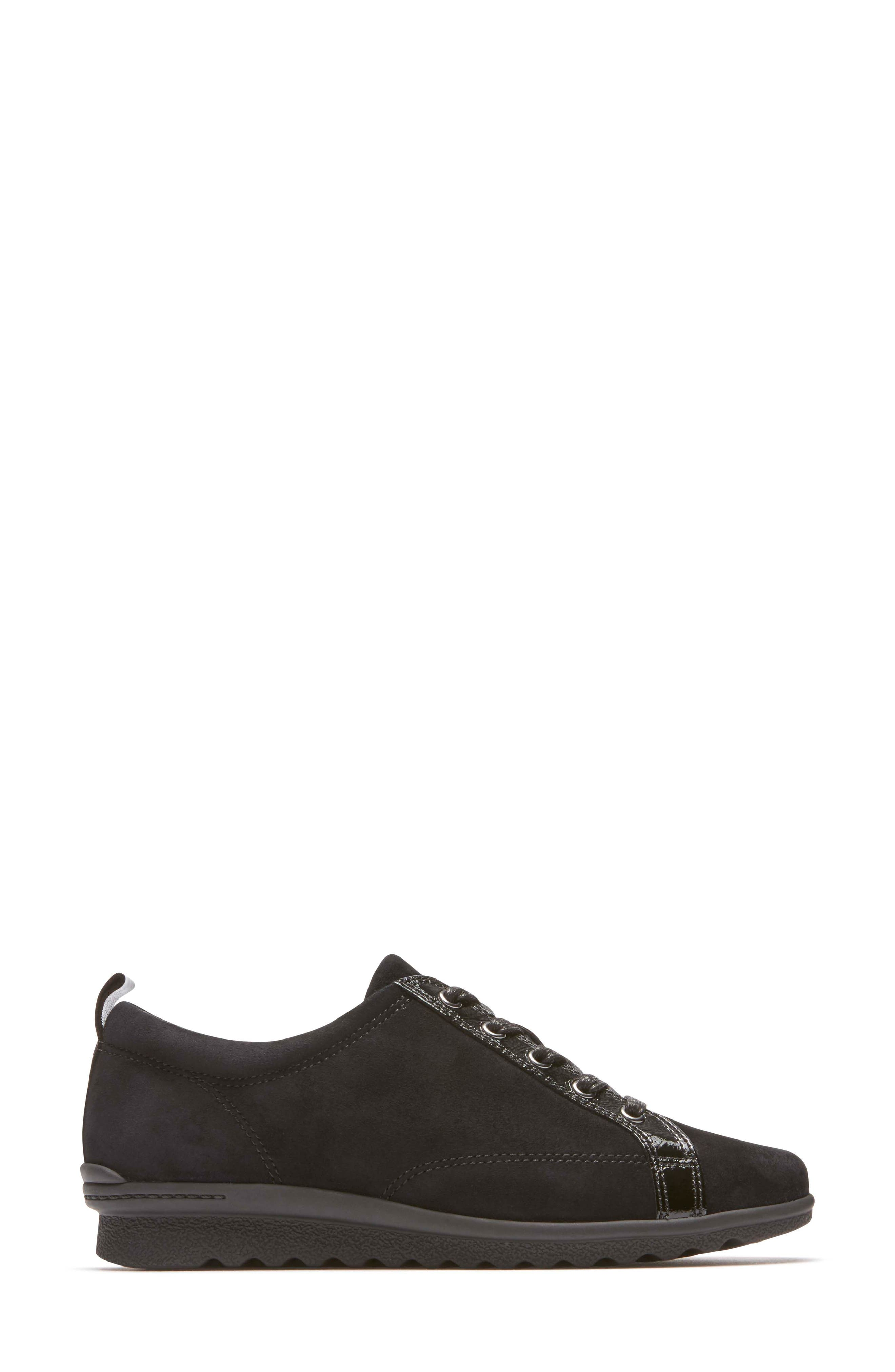 Chenole Wedge Sneaker,                             Alternate thumbnail 3, color,                             BLACK SUEDE