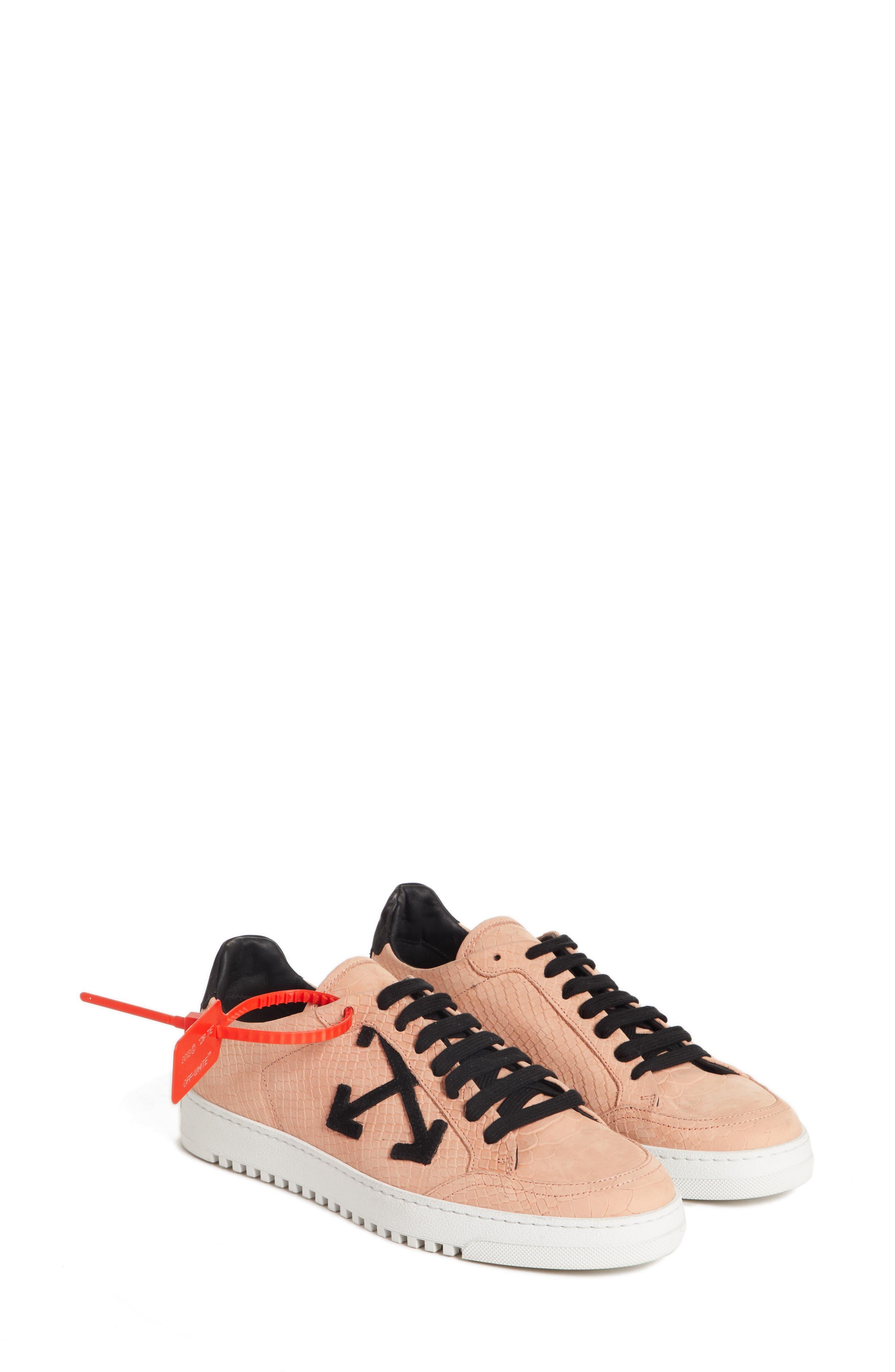 Arrow Sneaker,                         Main,                         color, SALMON BLACK