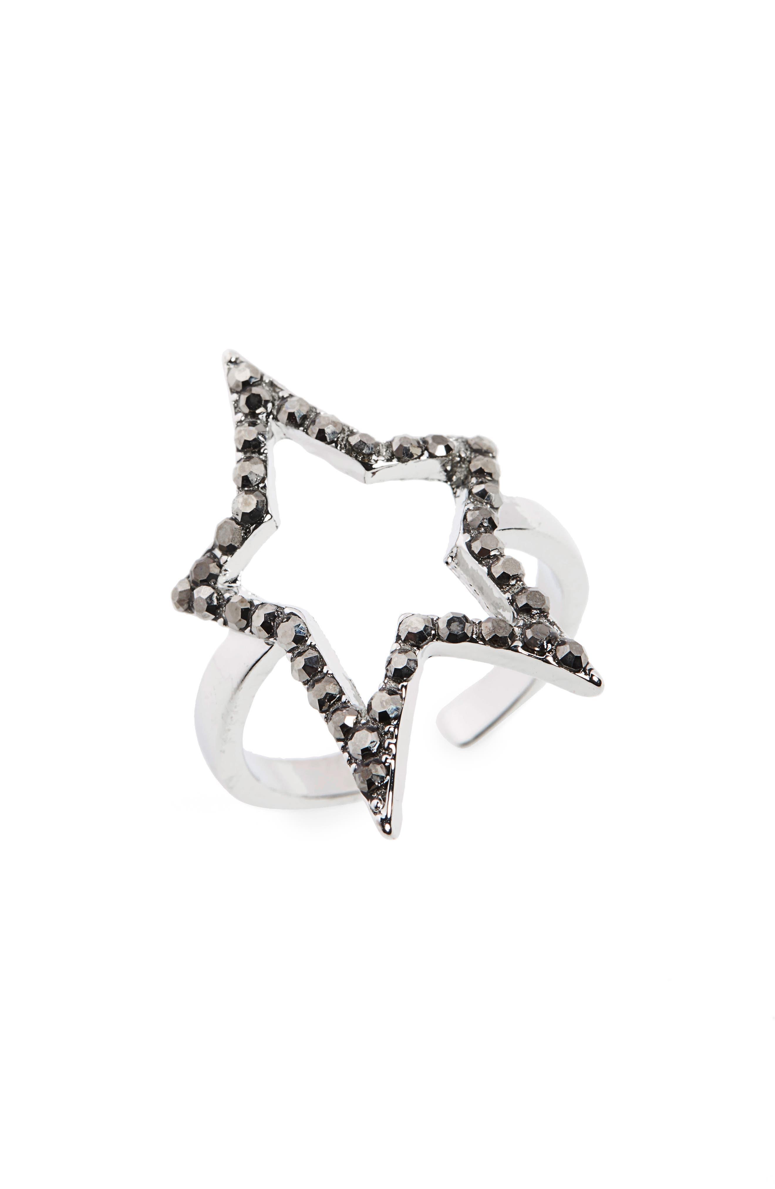 Natasha Open Star Ring,                         Main,                         color, 040