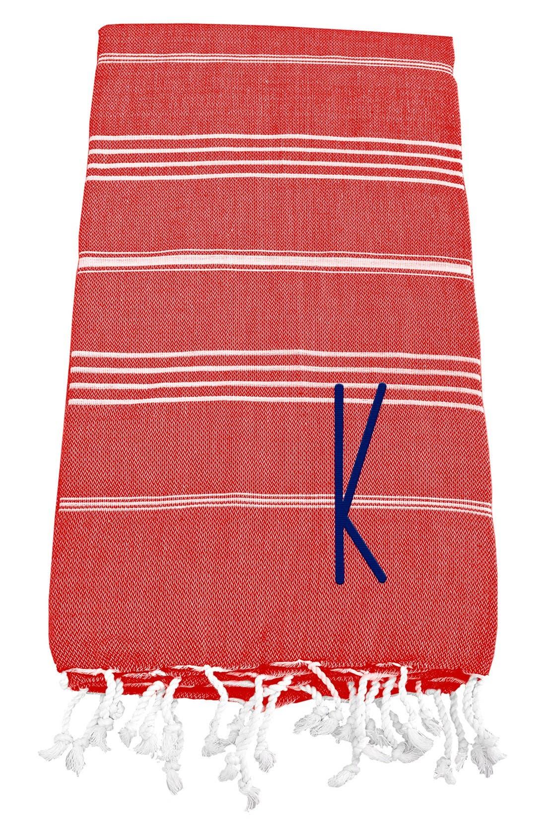 Monogram Turkish Cotton Towel,                             Main thumbnail 120, color,