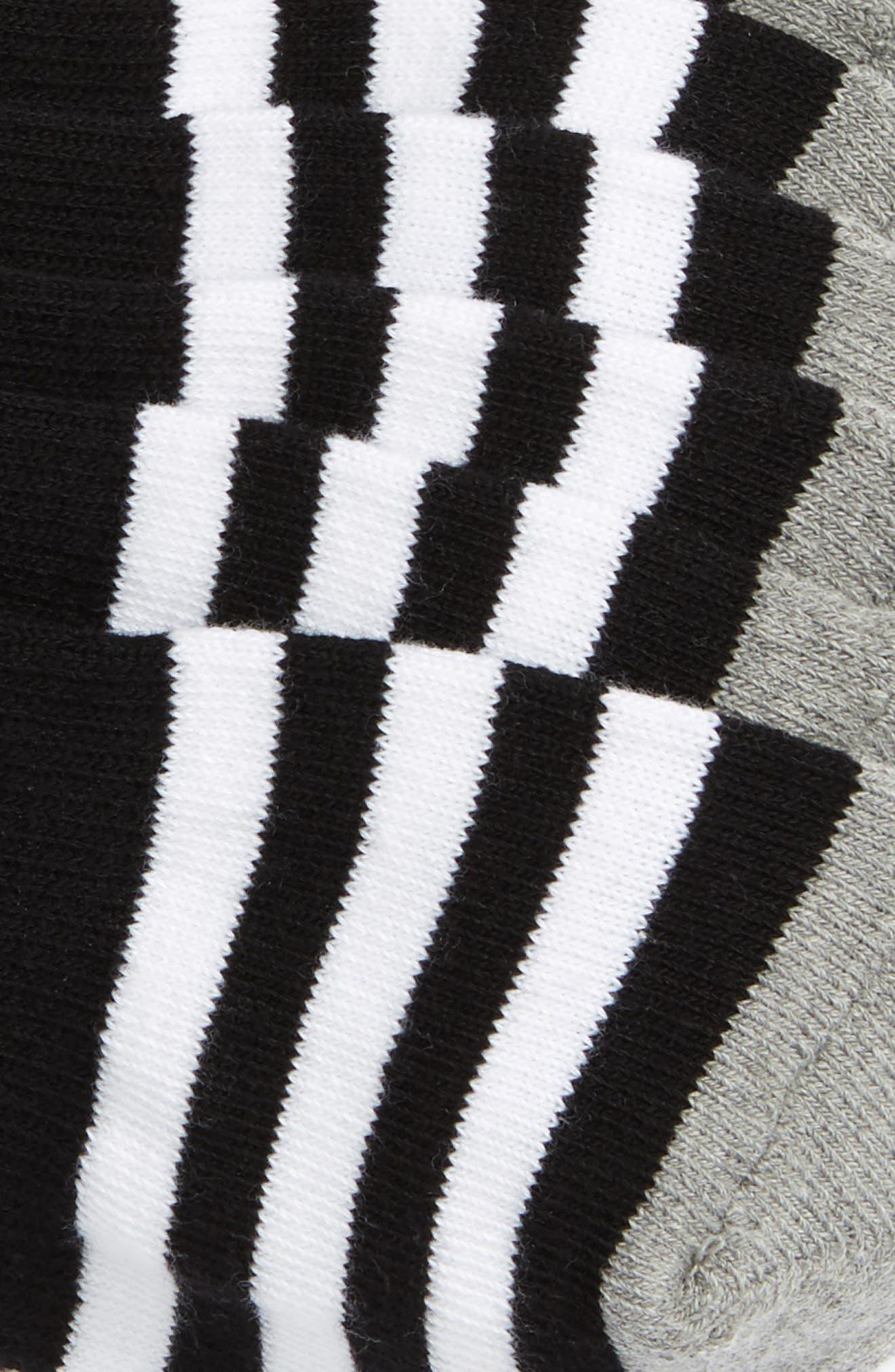 3-Pack Original Cushioned No-Show Socks,                             Alternate thumbnail 2, color,                             BLACK/ WHITE/ BLACK