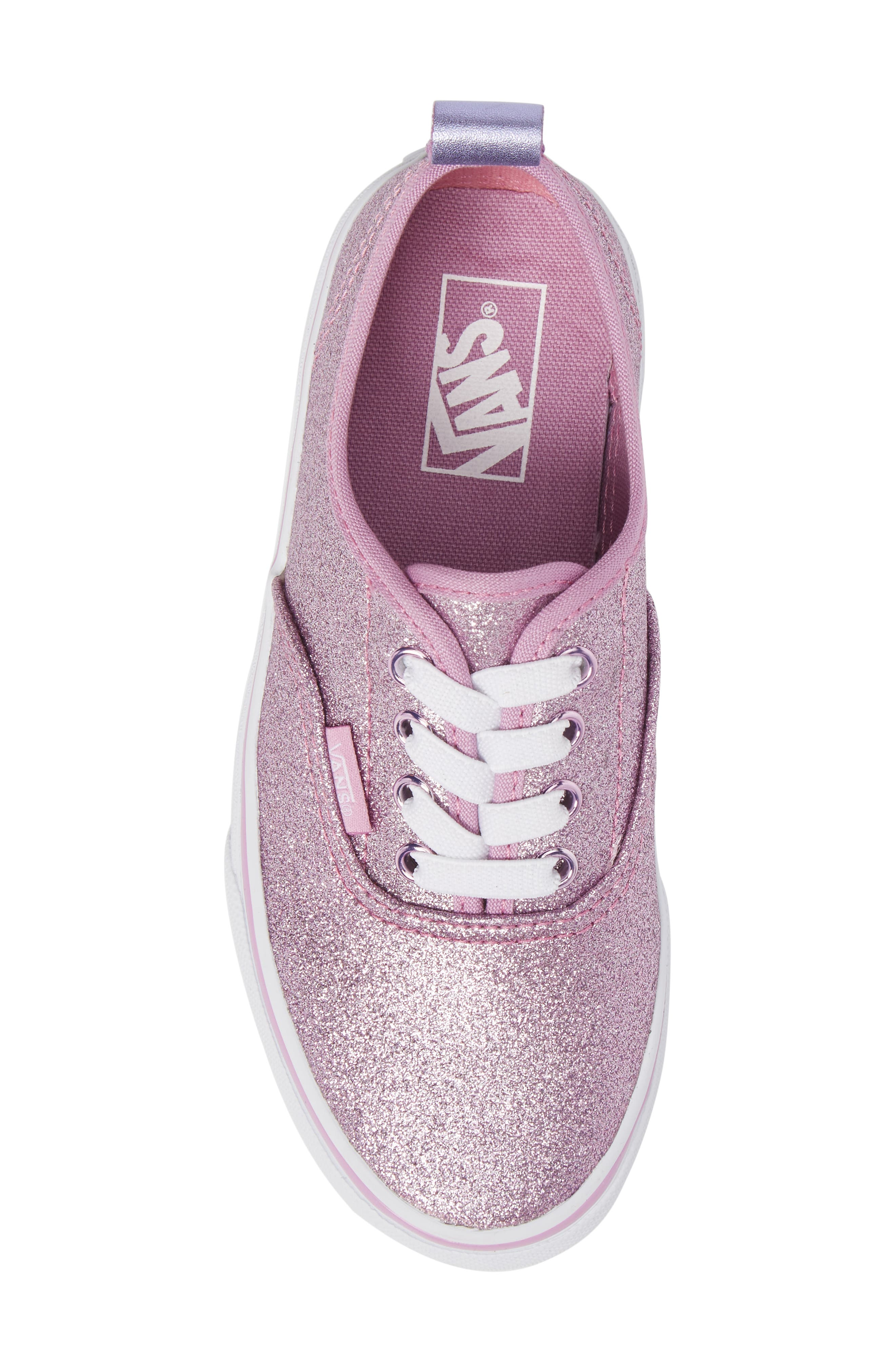 Glitter Authentic Elastic Lace Sneaker,                             Alternate thumbnail 5, color,