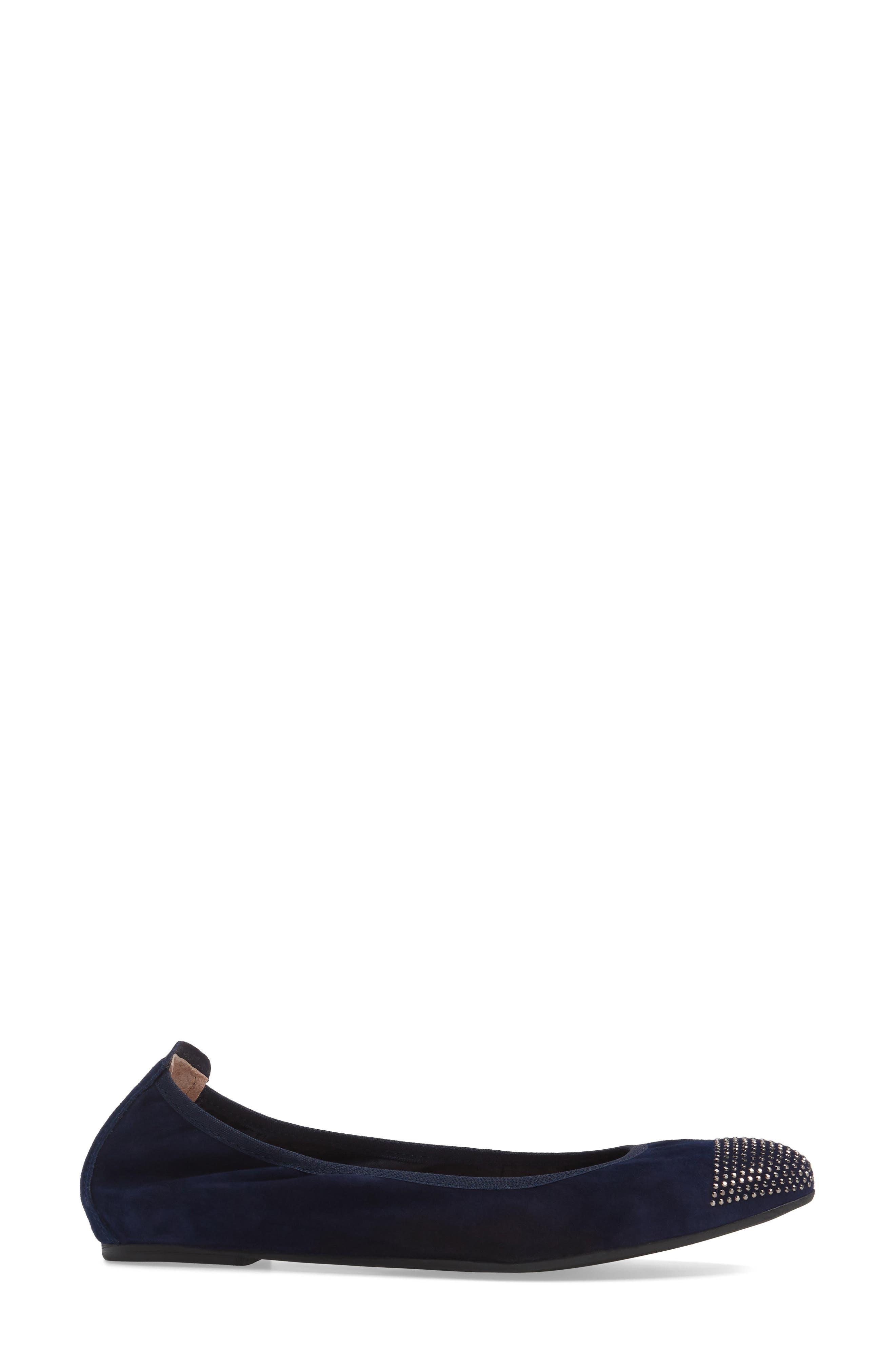 'Starr' Studded Ballet Flat,                             Alternate thumbnail 12, color,