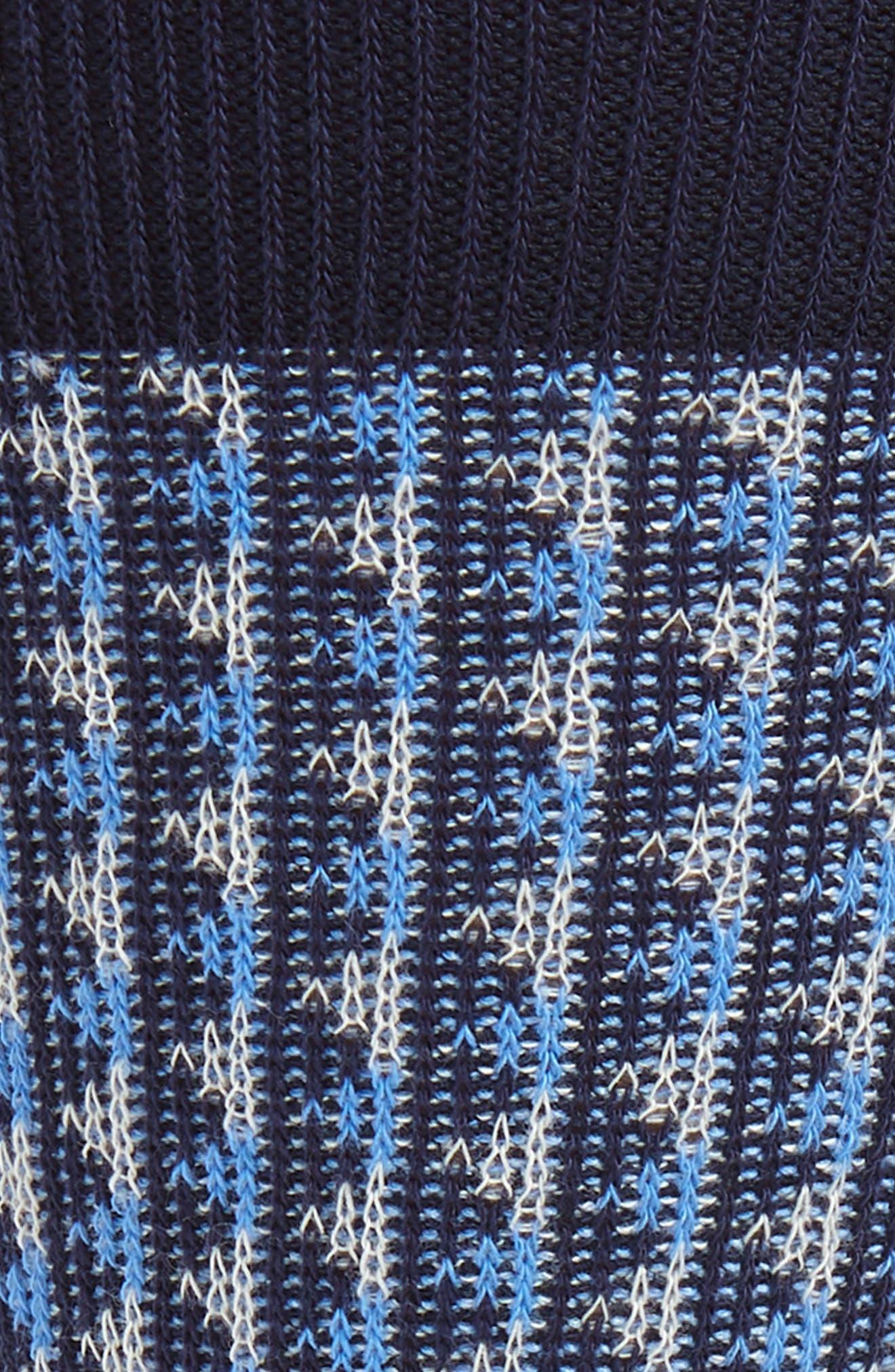 Jacquard Socks,                             Alternate thumbnail 2, color,                             BLUE