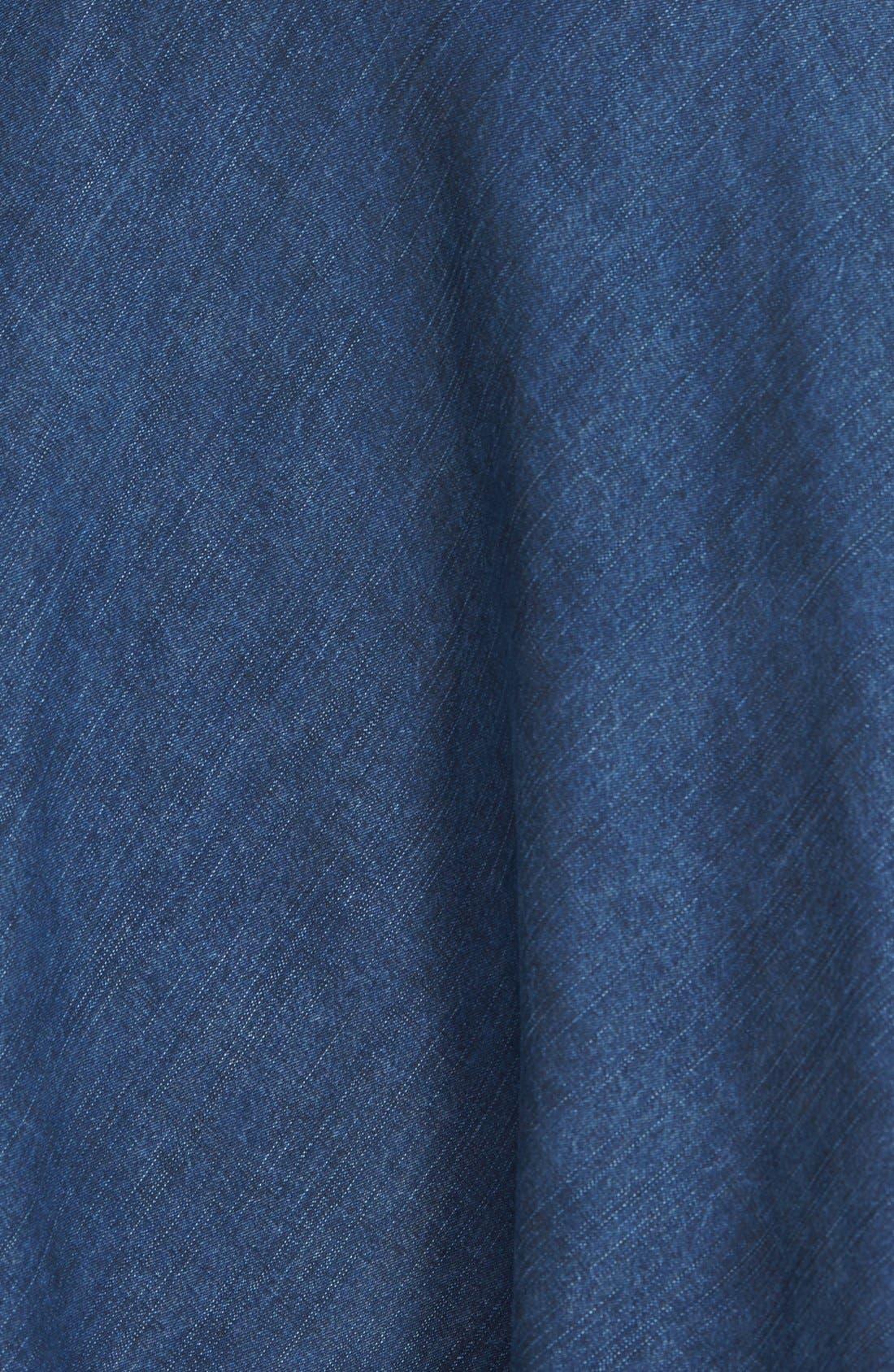 'Summer Fling' Flirt Skirt,                             Alternate thumbnail 3, color,                             INDIGO