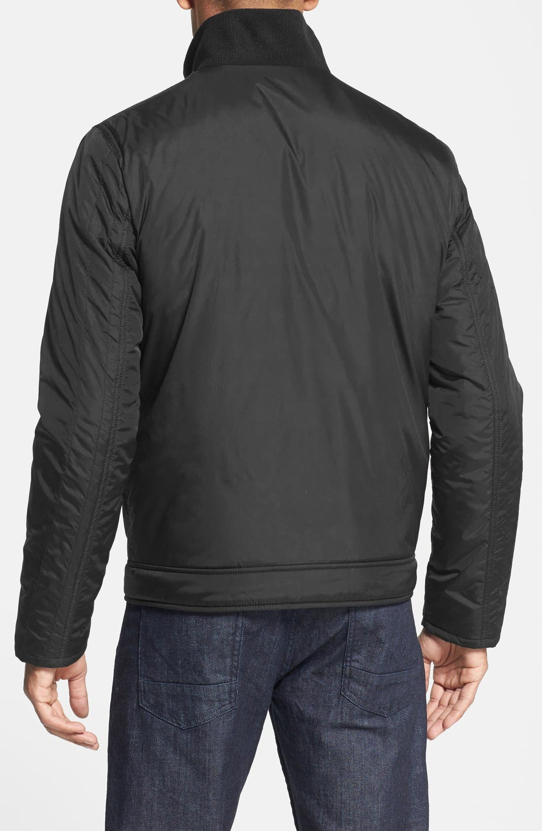 Kenneth Cole Reaction Waterproof Packable Quilted Bomber Jacket,                             Alternate thumbnail 2, color,                             001