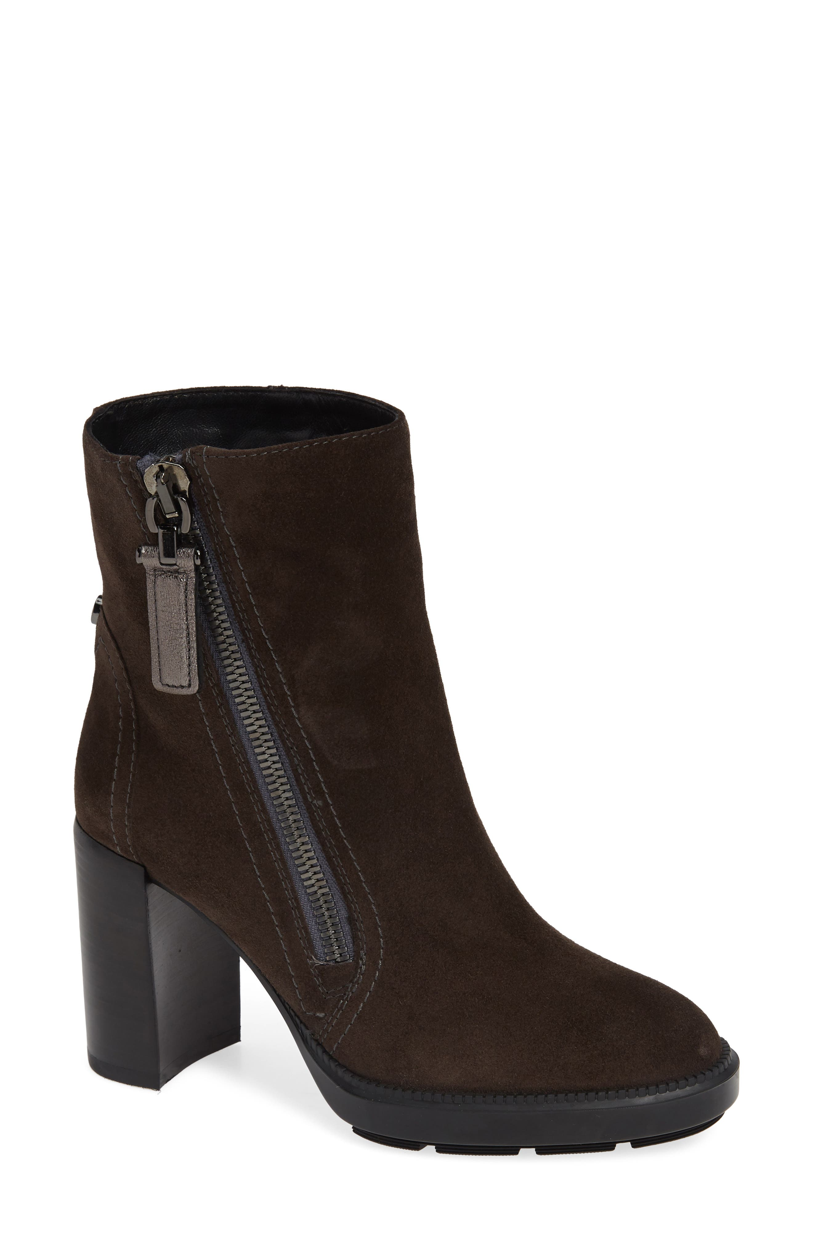 AQUATALIA Ilenia Weatherproof Bootie in Grey Metallic Suede