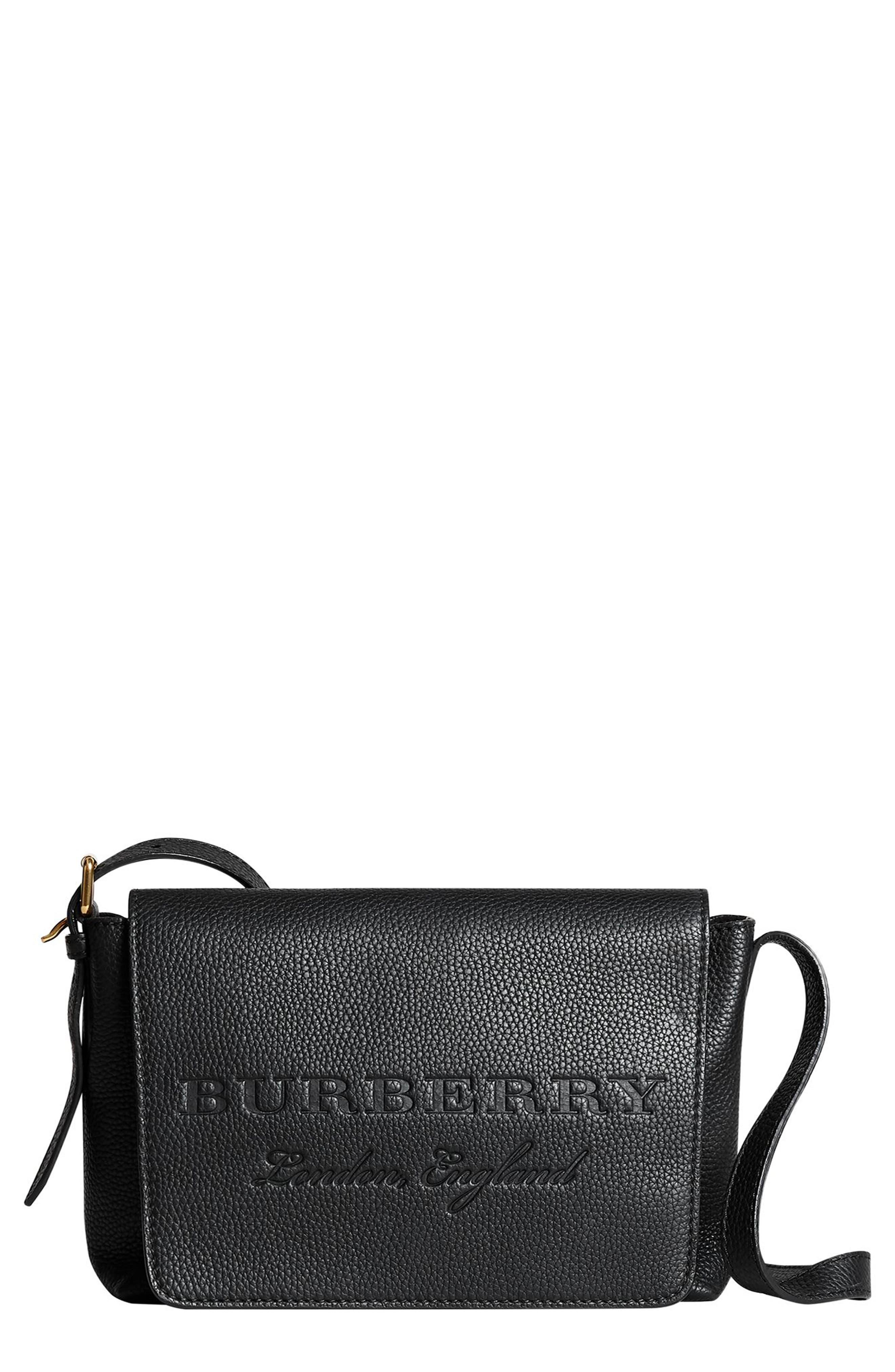 Small Burleigh Leather Crossbody Bag,                             Main thumbnail 1, color,                             001