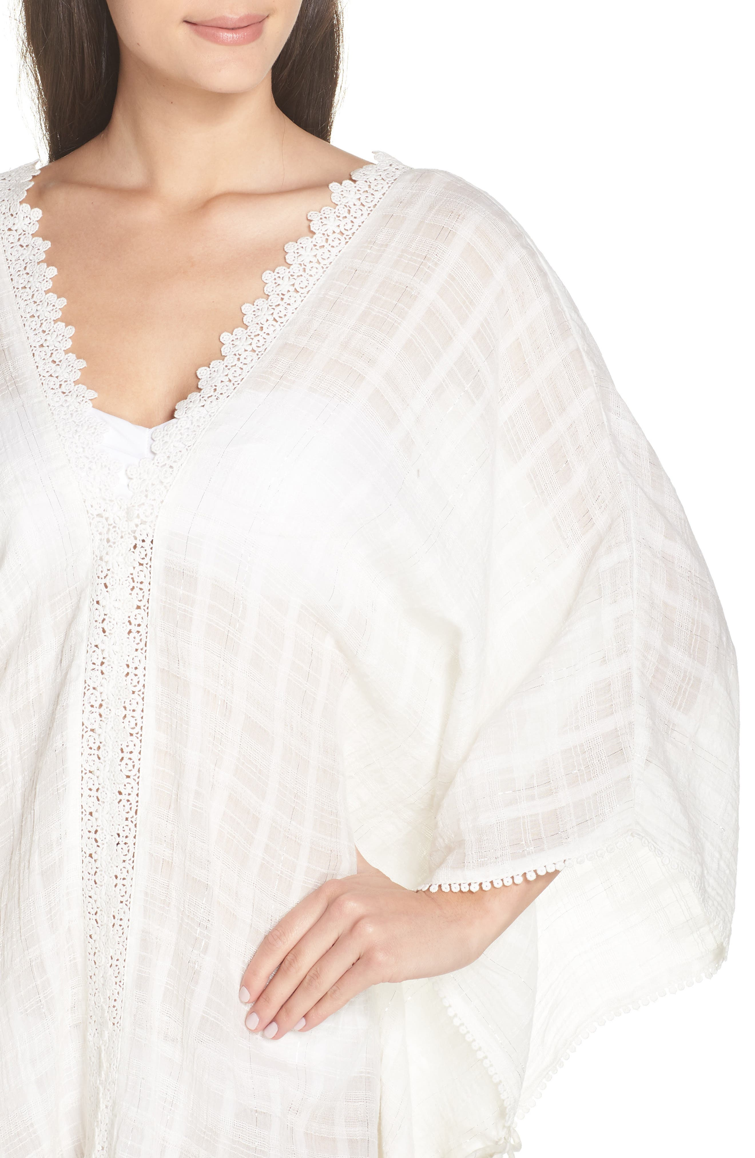 Serendipity Cover-Up Tunic,                             Alternate thumbnail 4, color,                             WHITE-SILVER