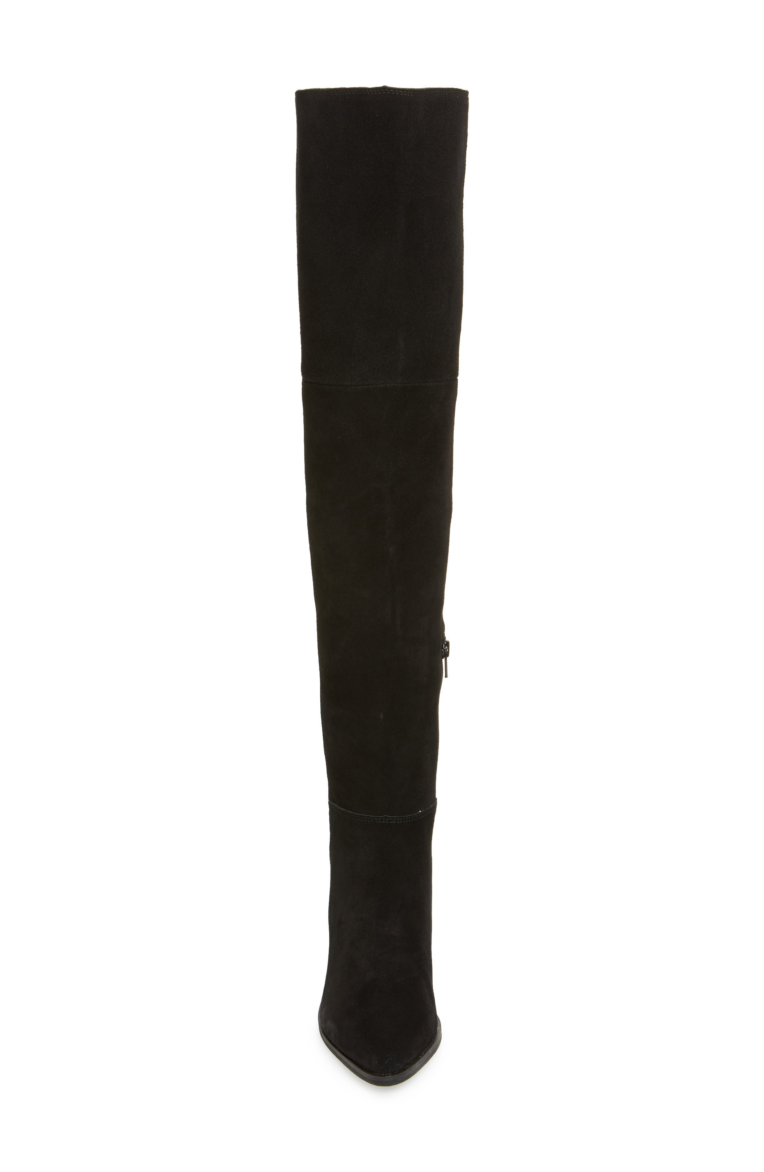 Lucca Pieced Over the Knee Boot,                             Alternate thumbnail 4, color,                             006