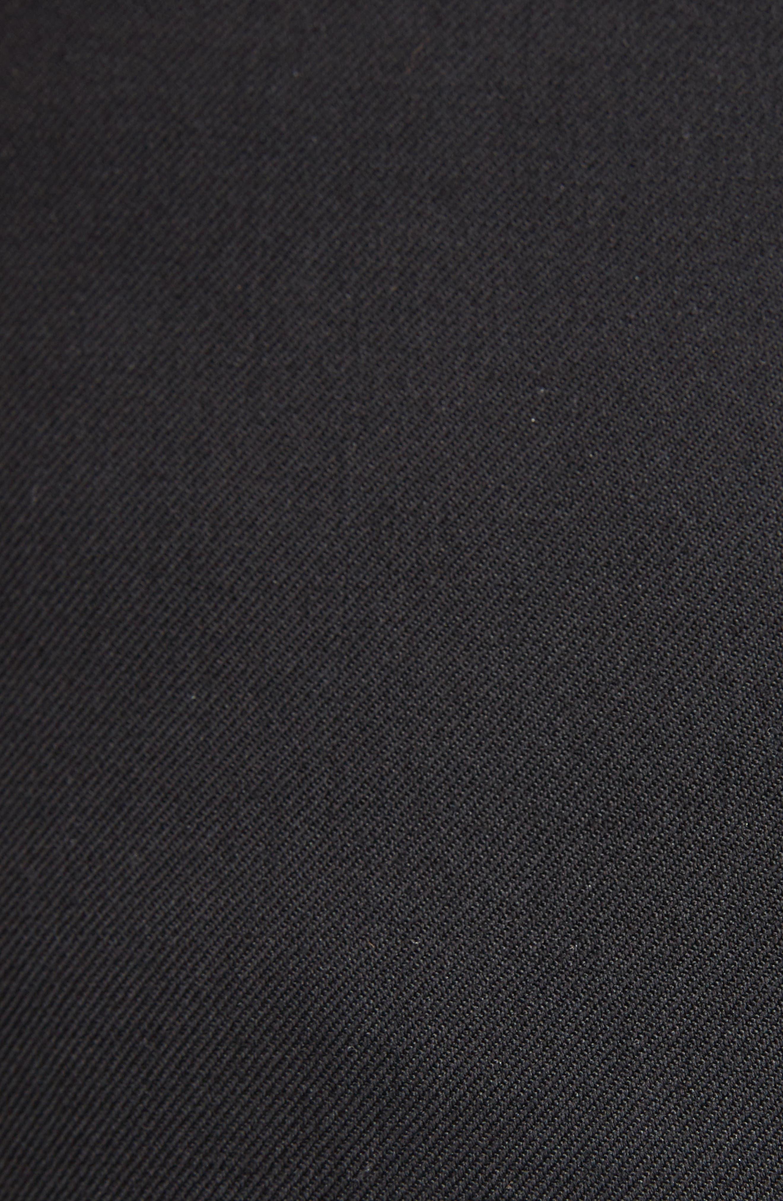 Pleated Wool Gabardine Miniskirt,                             Alternate thumbnail 5, color,                             001