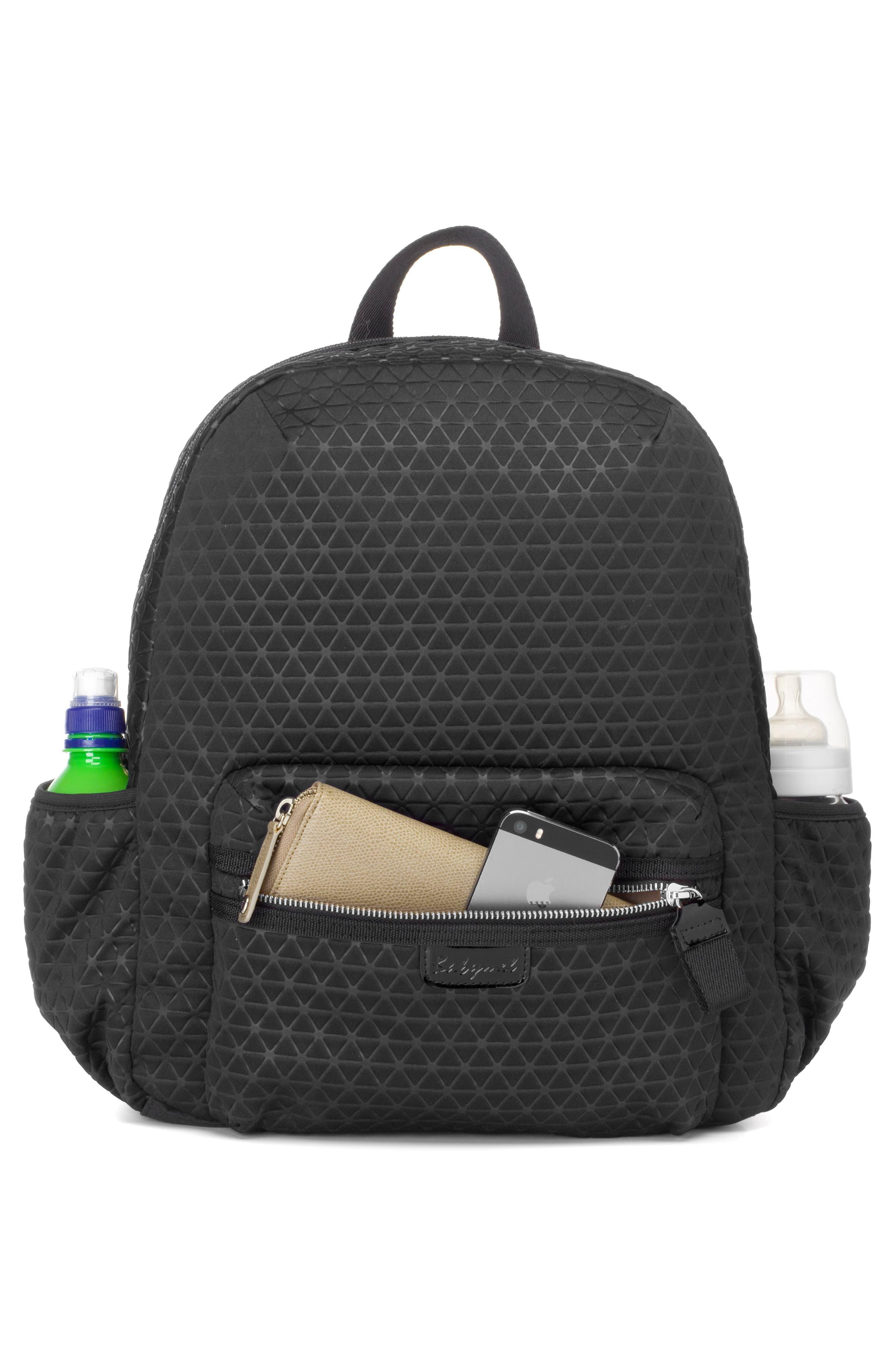 Luna Ultra Lite Diaper Backpack,                             Alternate thumbnail 5, color,                             BLACK