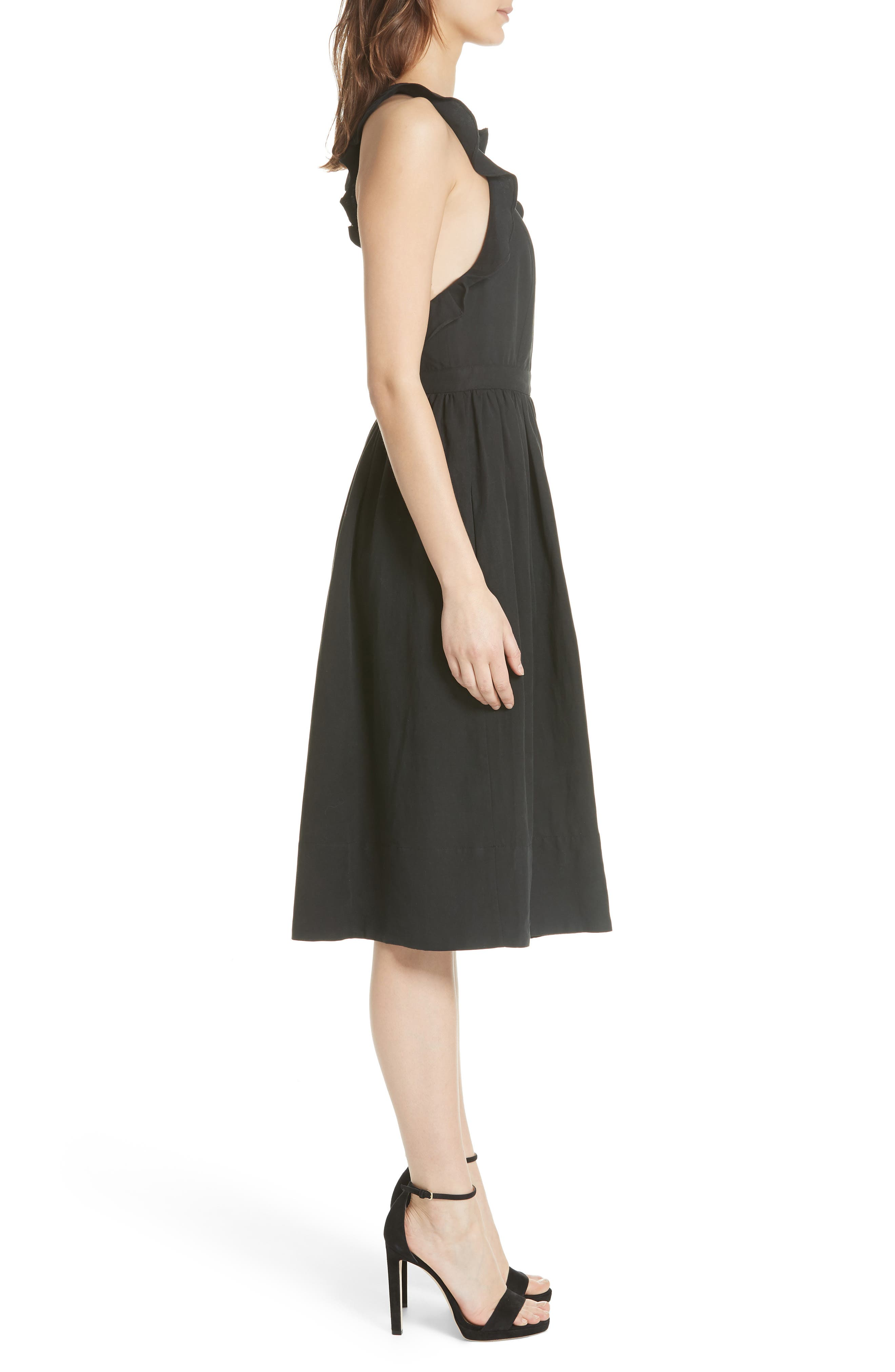 Willa Pinafore Dress,                             Alternate thumbnail 3, color,                             001