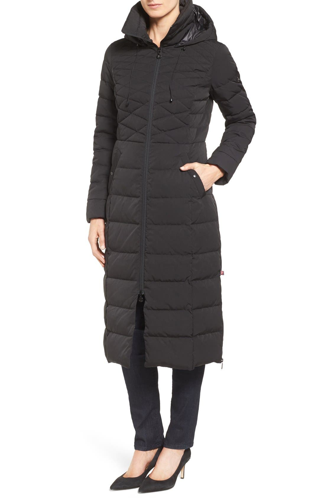 Quilted Long Coat with Down & PrimaLoft<sup>®</sup> Fill,                             Alternate thumbnail 7, color,