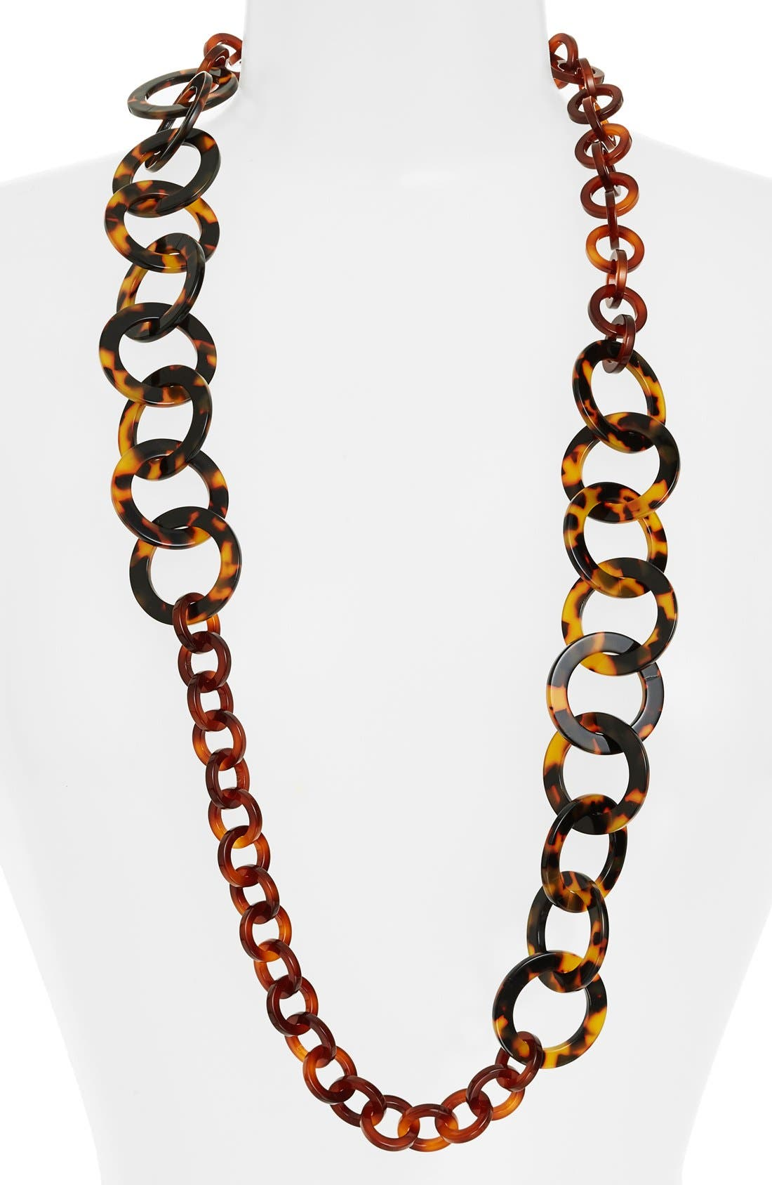 'Madison' Link Station Necklace,                             Main thumbnail 3, color,
