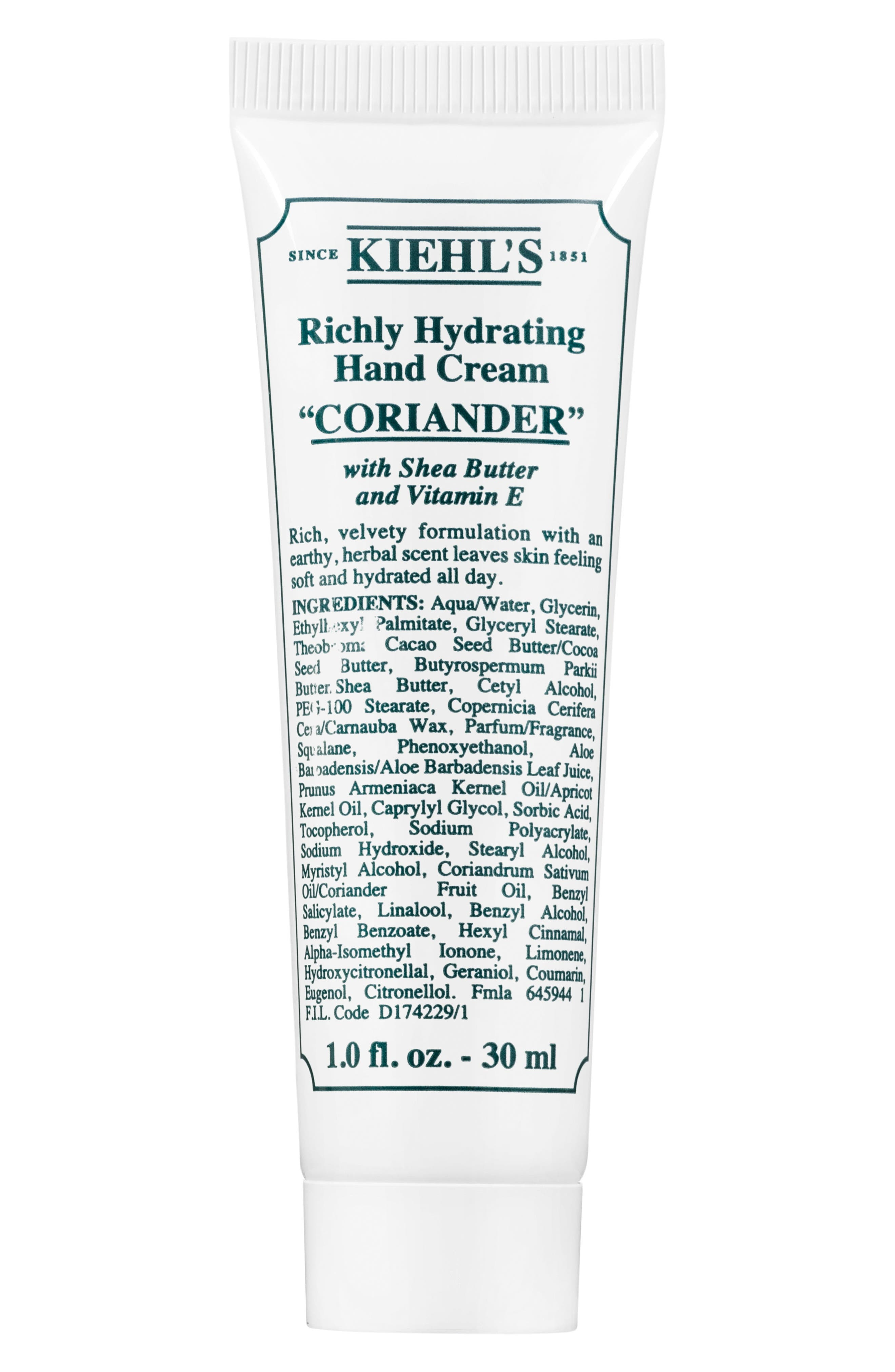 Coriander Richly Hydrating Scented Cream,                             Alternate thumbnail 3, color,                             NO COLOR