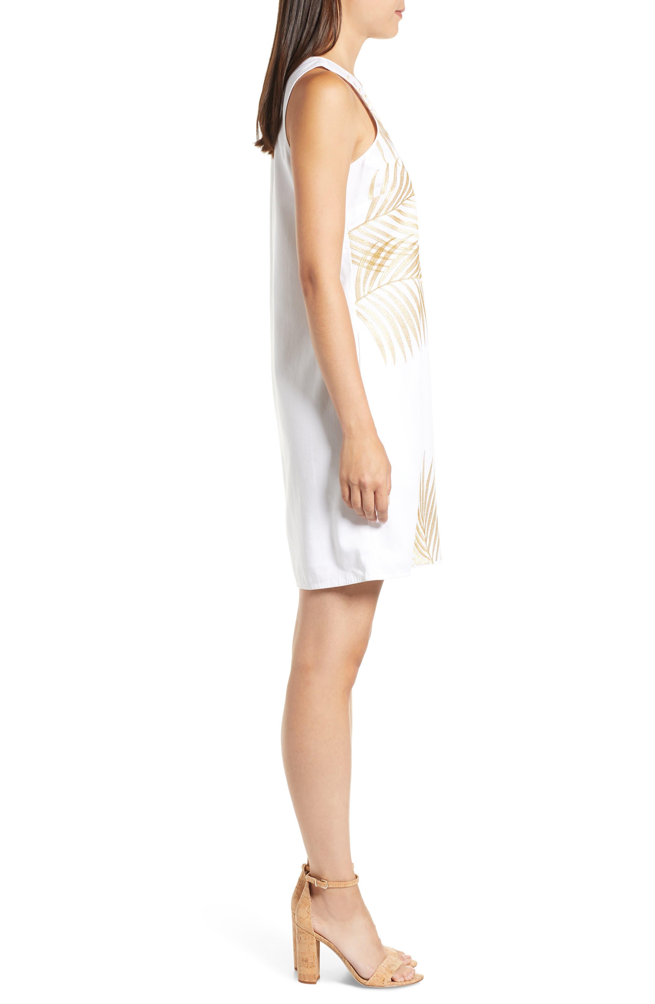 Lanailette Embroidered Shift Dress,                             Alternate thumbnail 3, color,                             100