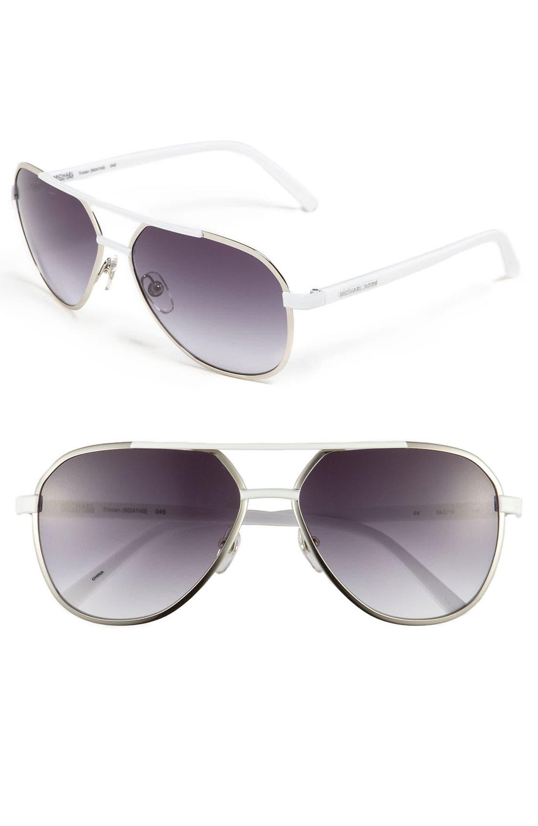 'Tristan' 59mm Aviator Sunglasses,                             Main thumbnail 1, color,