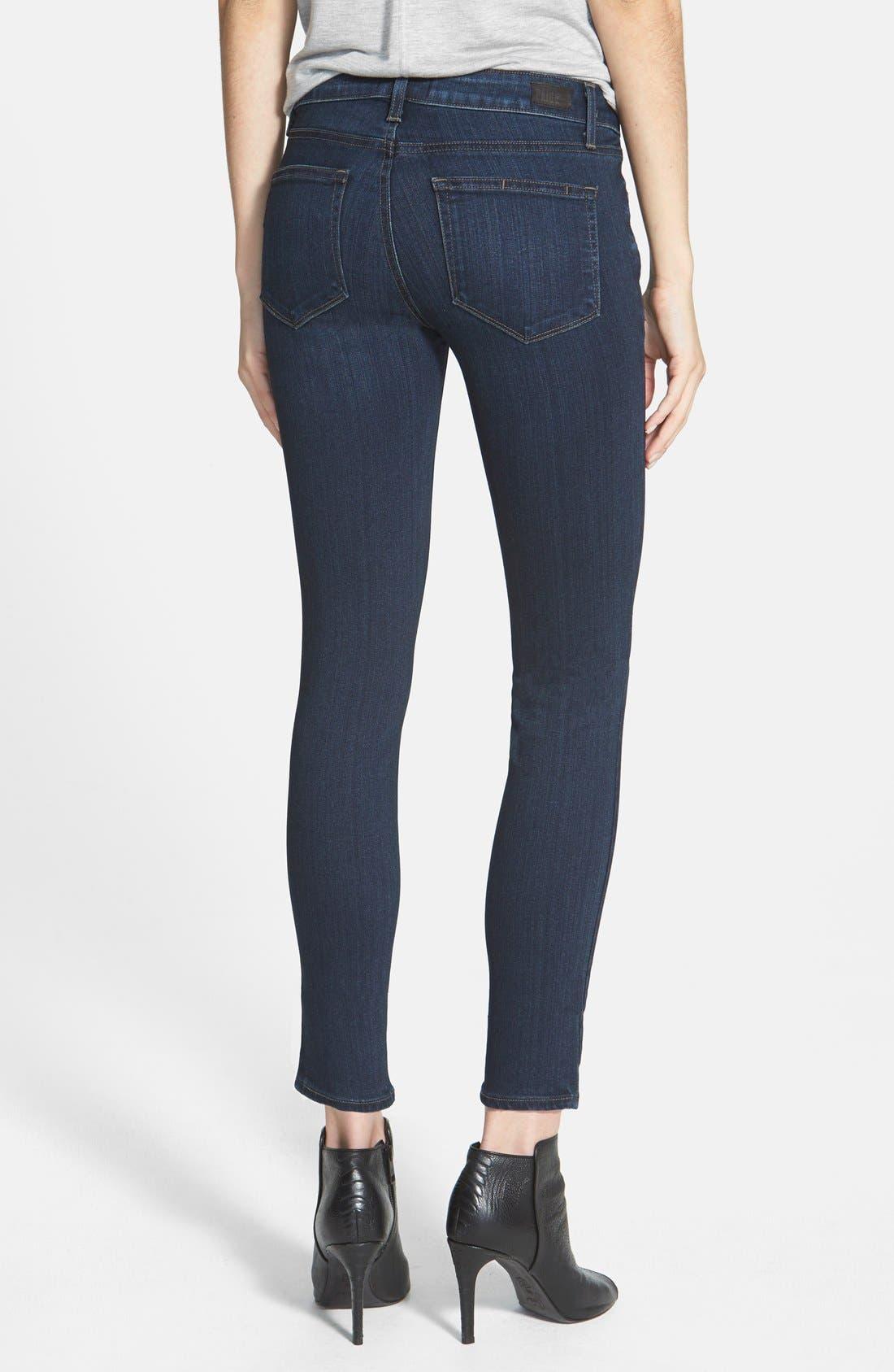 Denim 'Transcend - Edgemont' Crop Jeans,                             Alternate thumbnail 3, color,