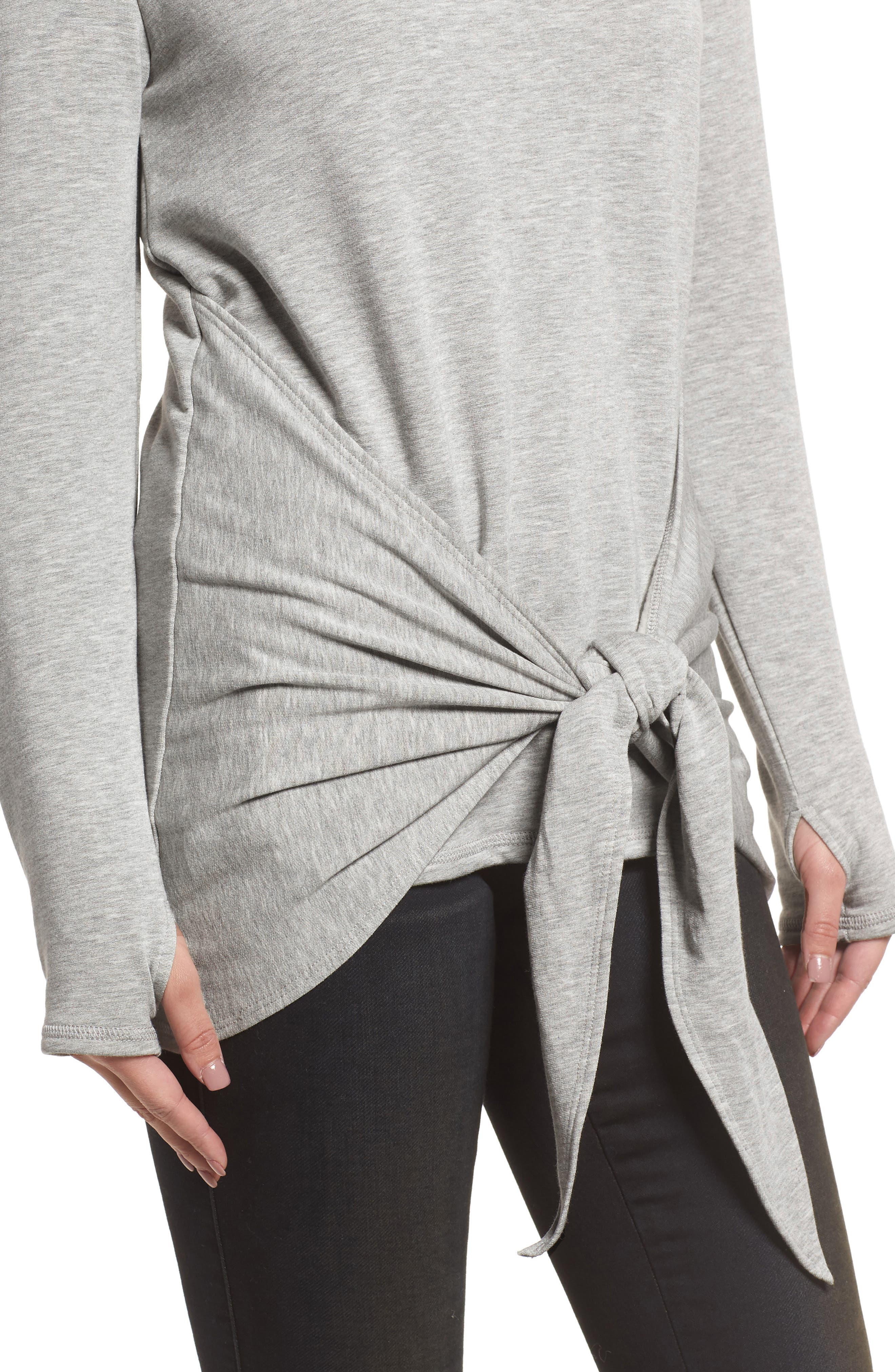 Off-Duty Tie Front Sweatshirt,                             Alternate thumbnail 12, color,