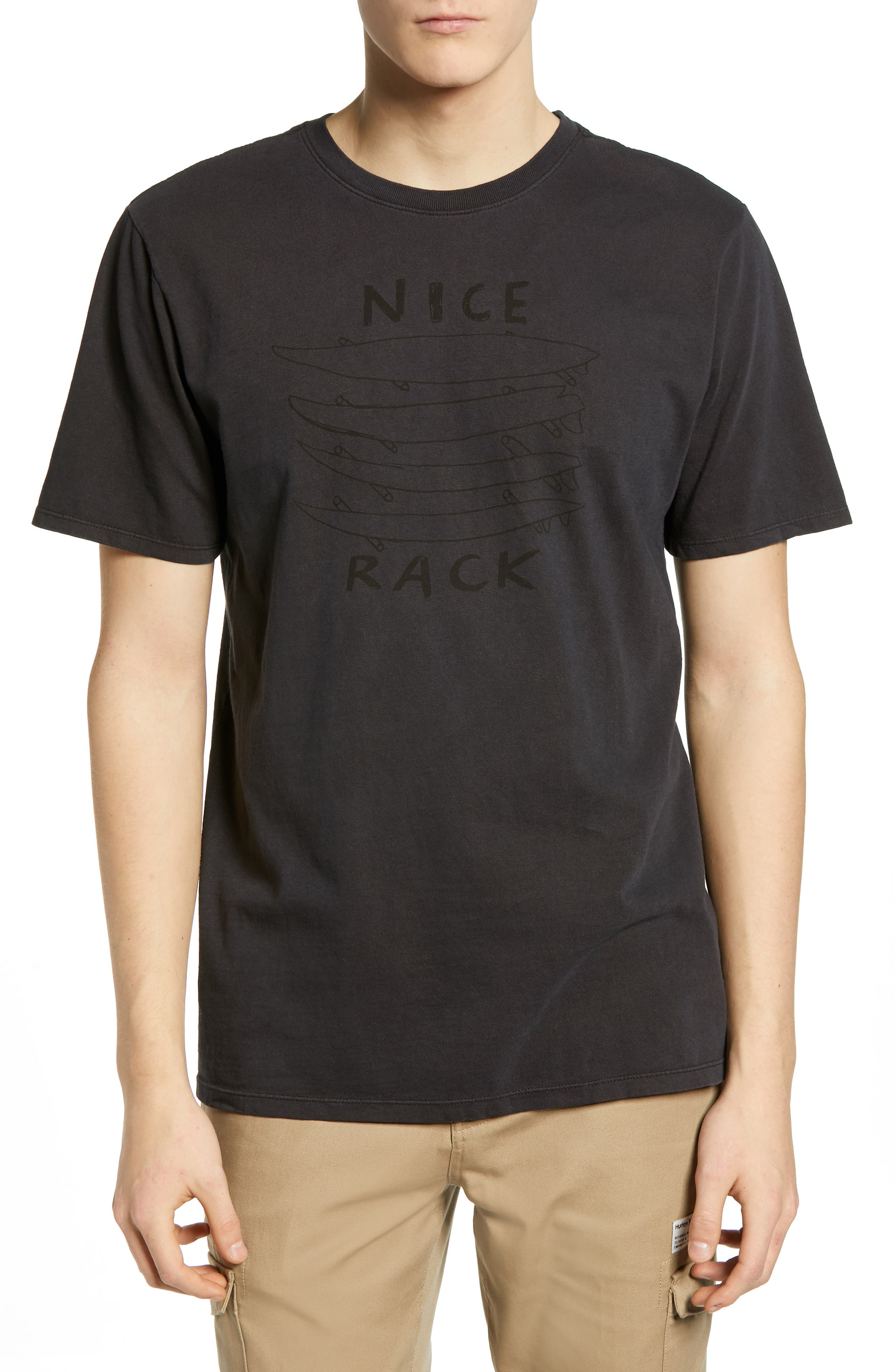Surf Graphic T-Shirt,                         Main,                         color, ANTHRACITE