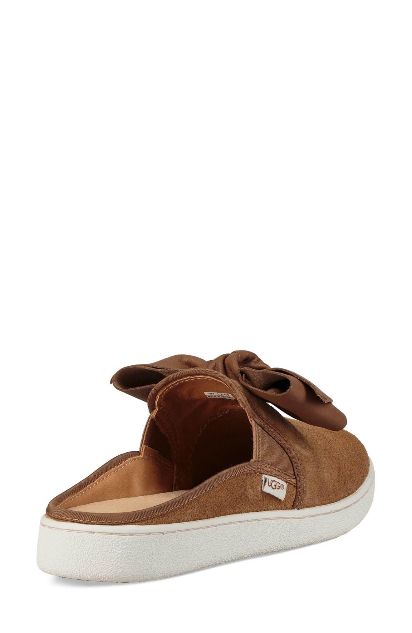 UGG<SUP>®</SUP>,                             Ida Mule Sneaker,                             Alternate thumbnail 2, color,                             CHESTNUT SUEDE