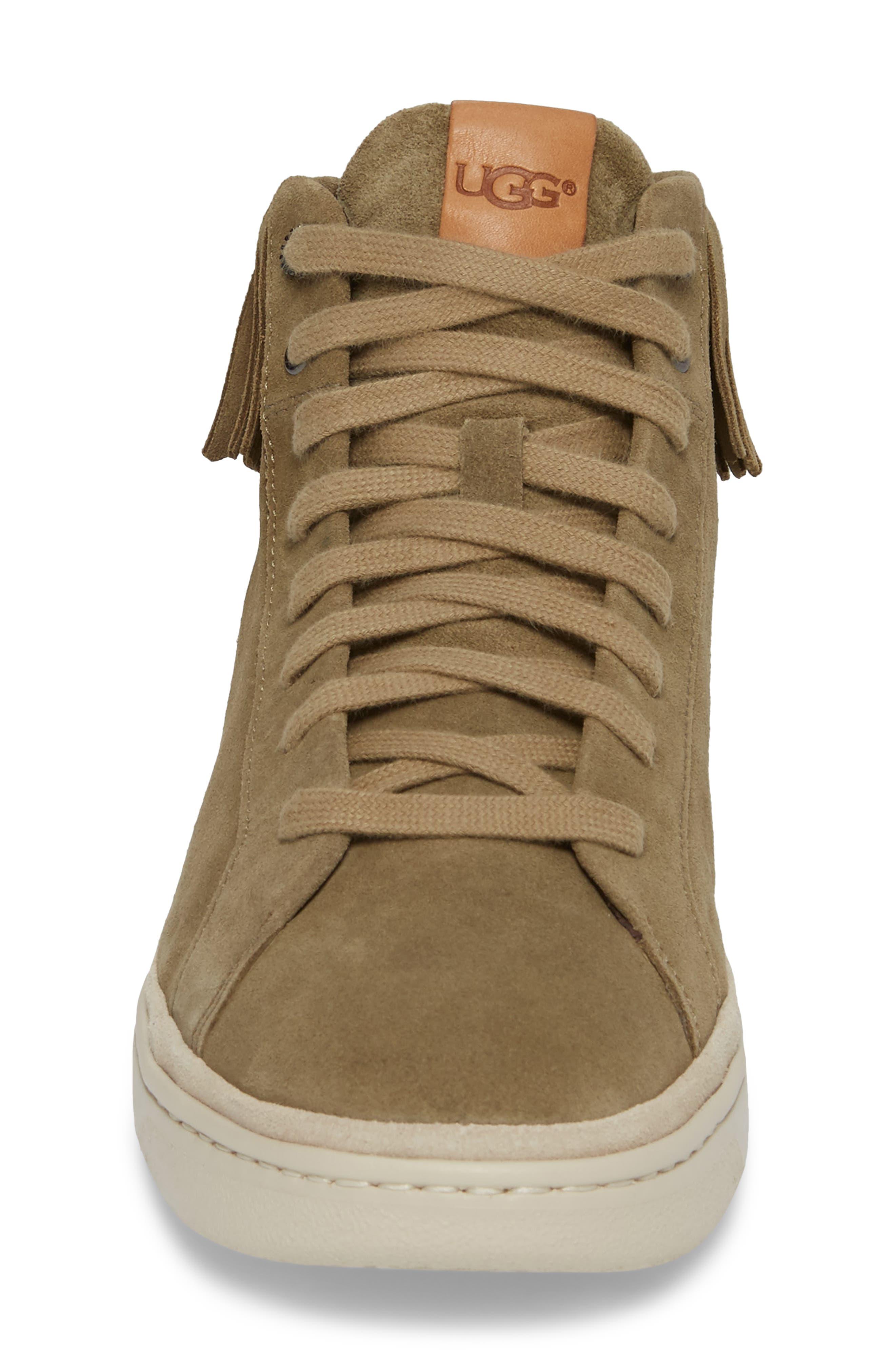 Brecken Fringe High-Top Sneaker,                             Alternate thumbnail 4, color,                             204