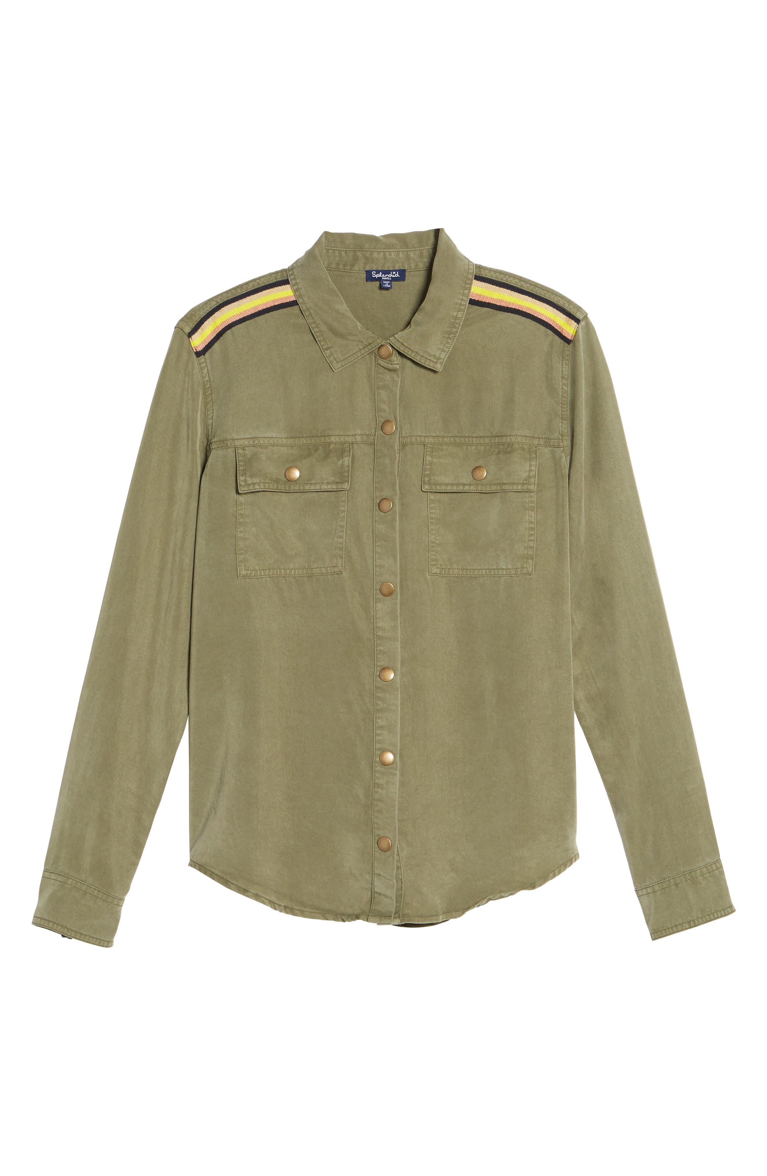 Military Shirt,                             Alternate thumbnail 6, color,                             300