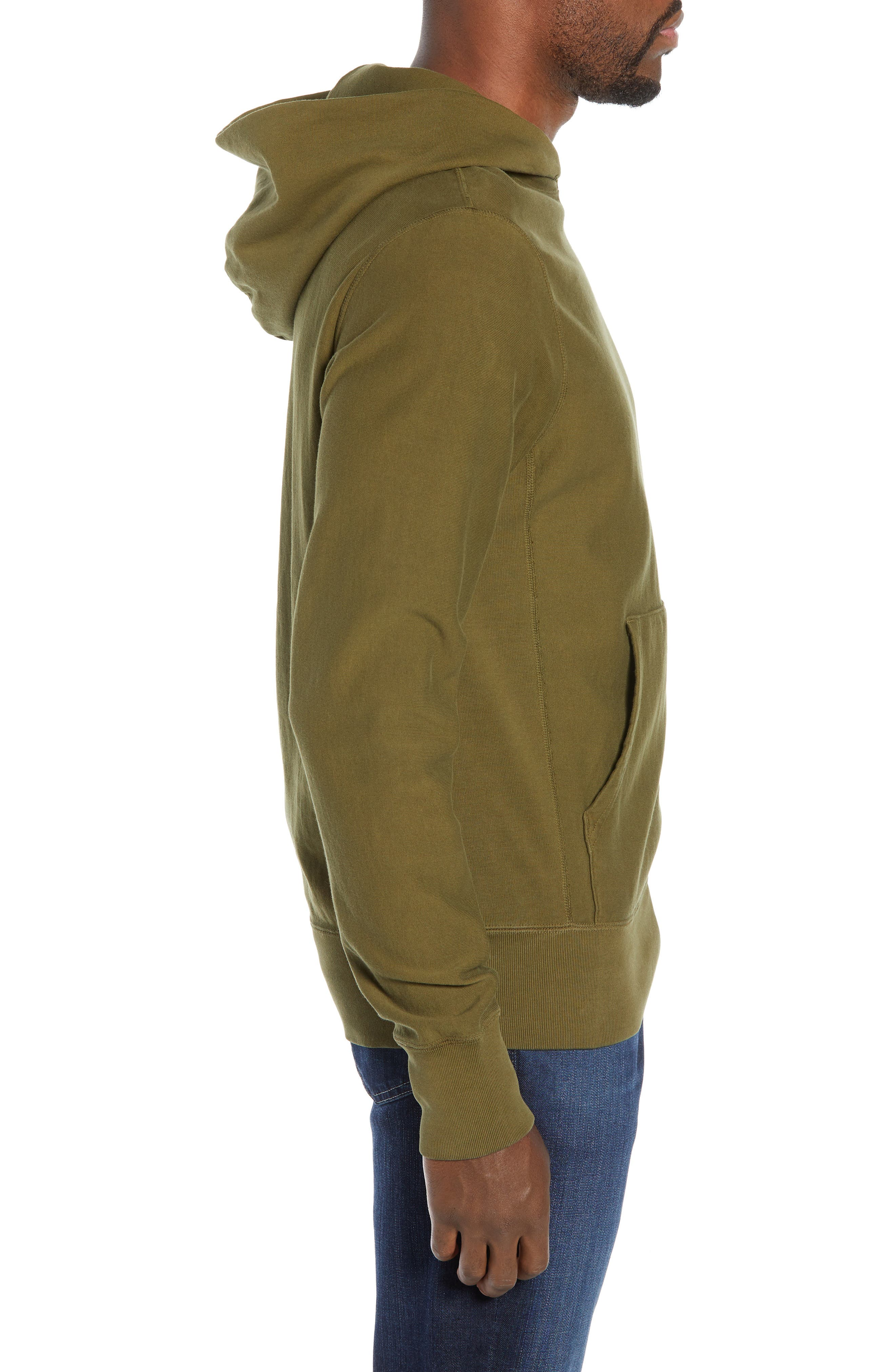 Popover Hoodie,                             Alternate thumbnail 3, color,                             OLIVE