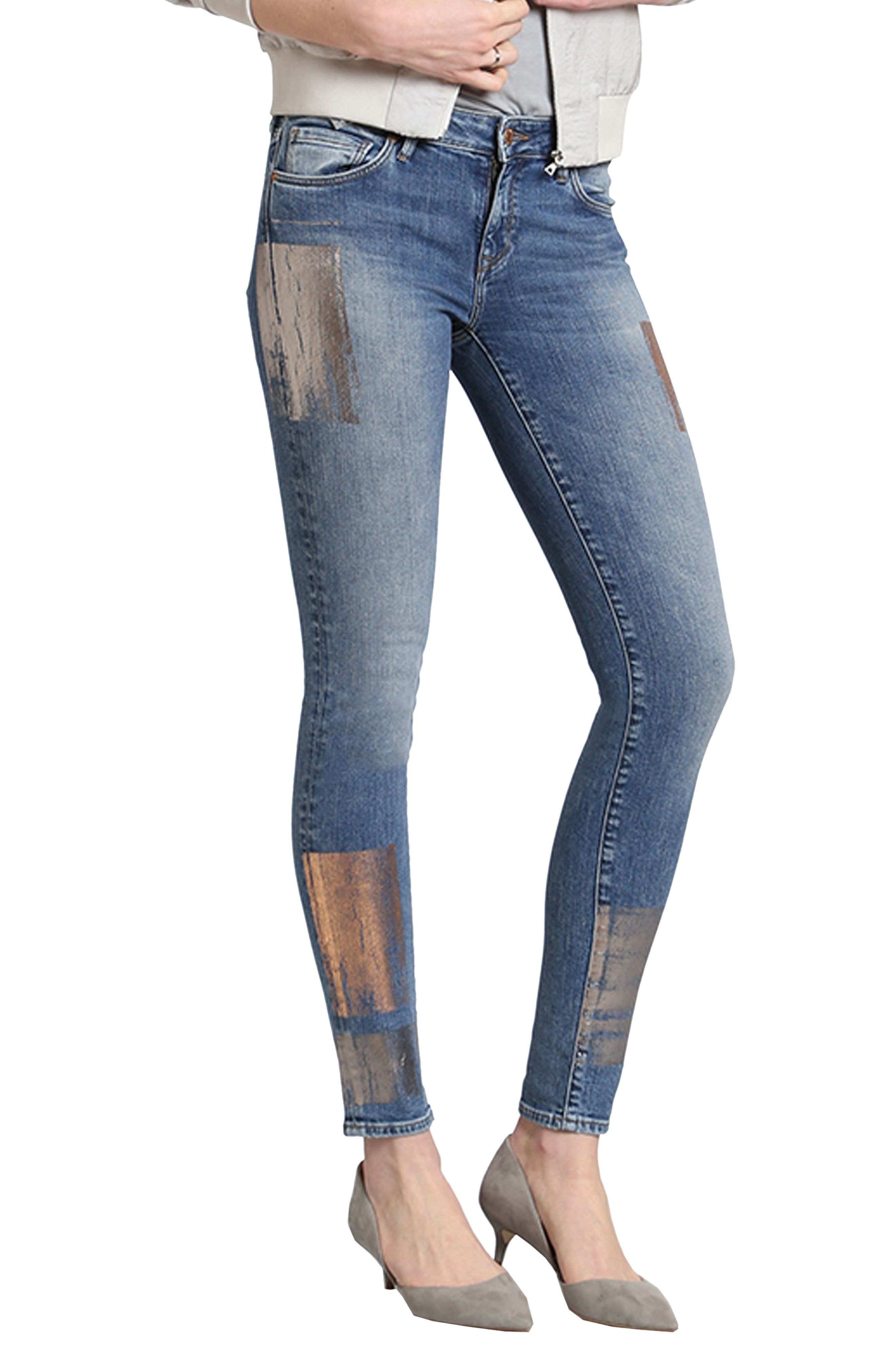 Adriana Stretch Skinny Jeans,                         Main,                         color, 420