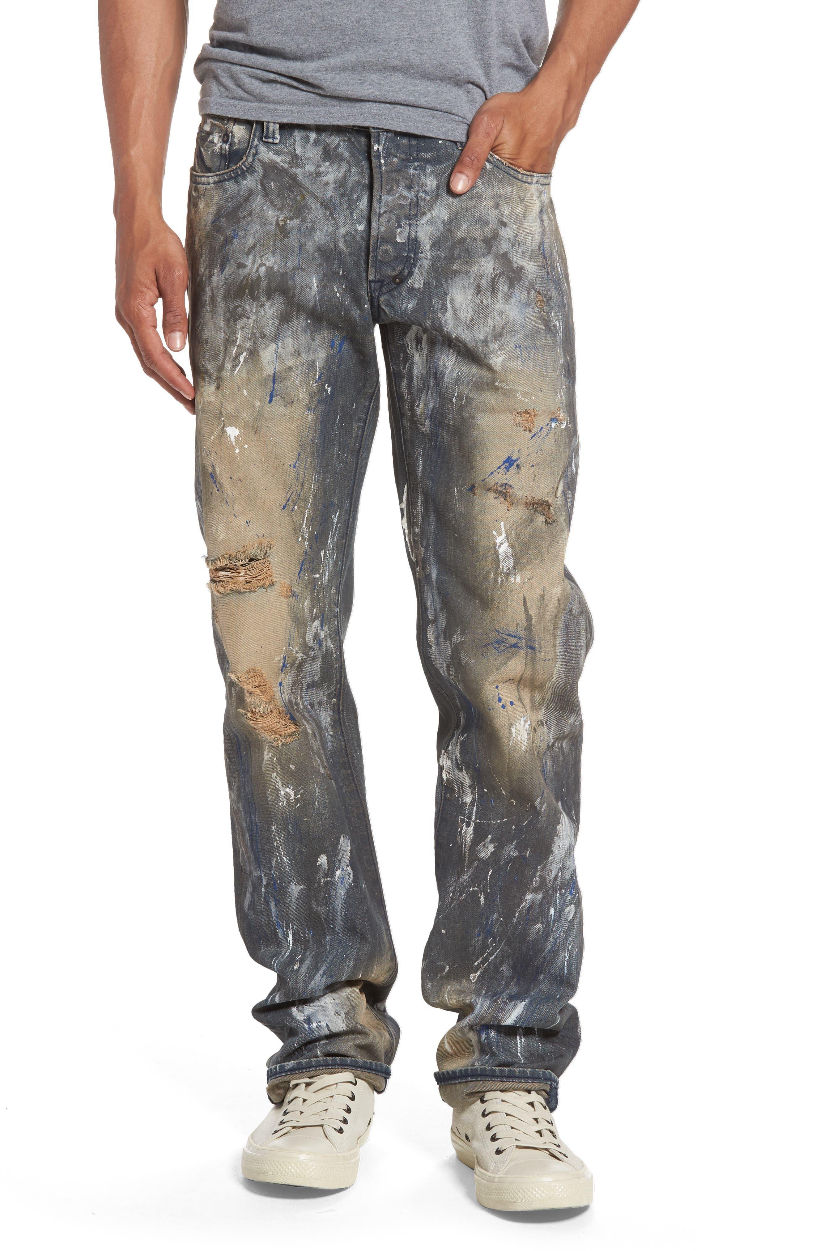 Barracuda Straight Leg Jeans,                             Main thumbnail 1, color,                             490