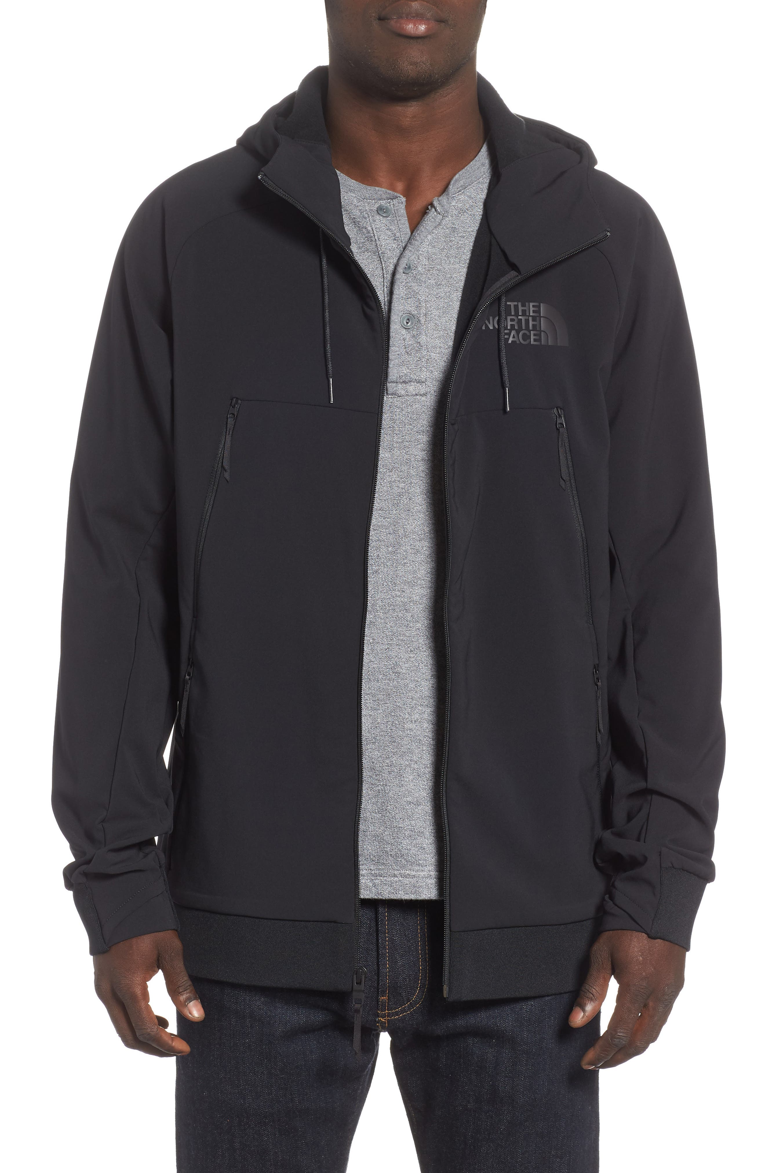 Tekno Zip Jacket,                             Main thumbnail 1, color,                             TNF BLACK