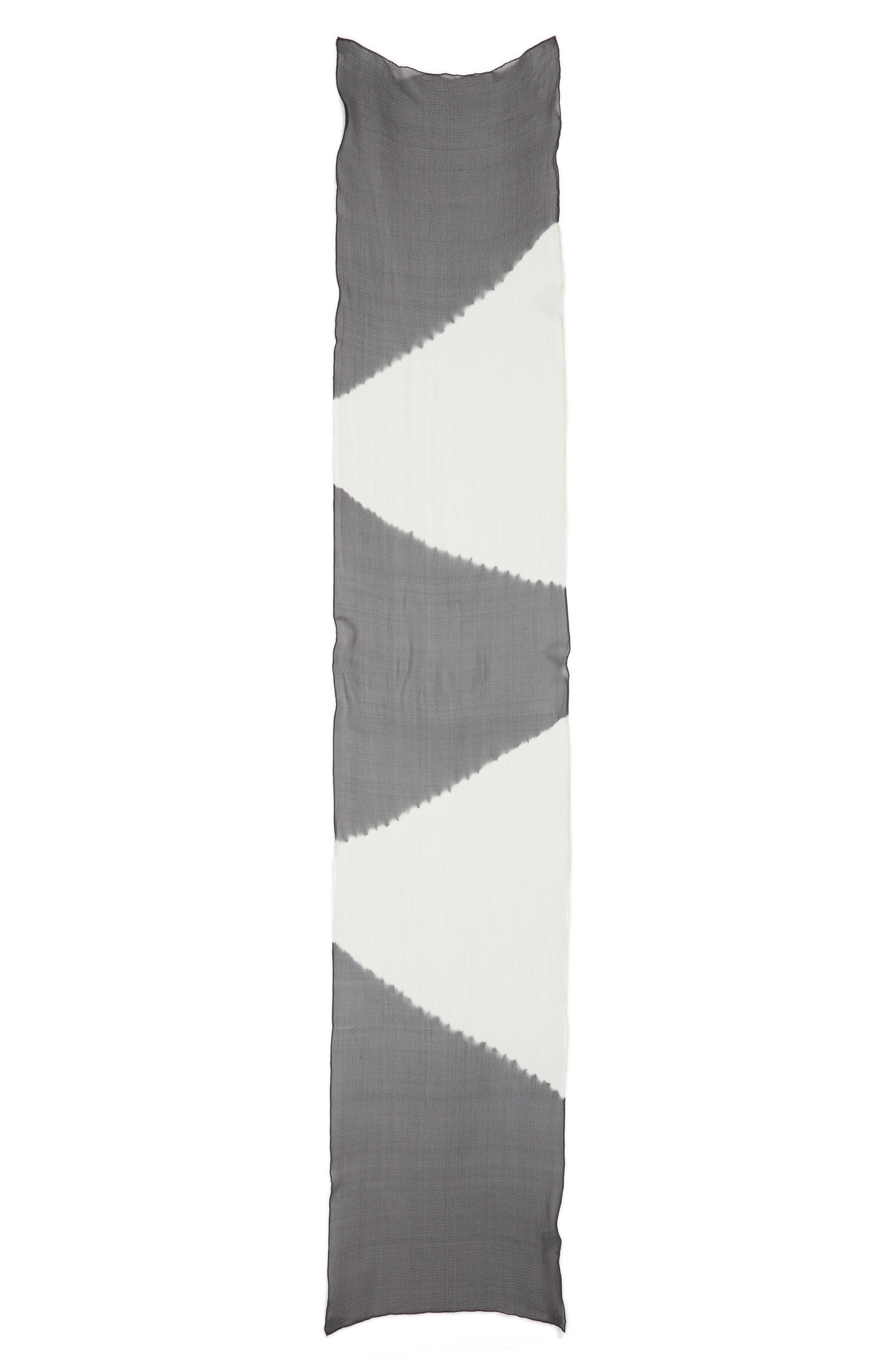 Colorblock Silk Scarf,                             Alternate thumbnail 3, color,                             210