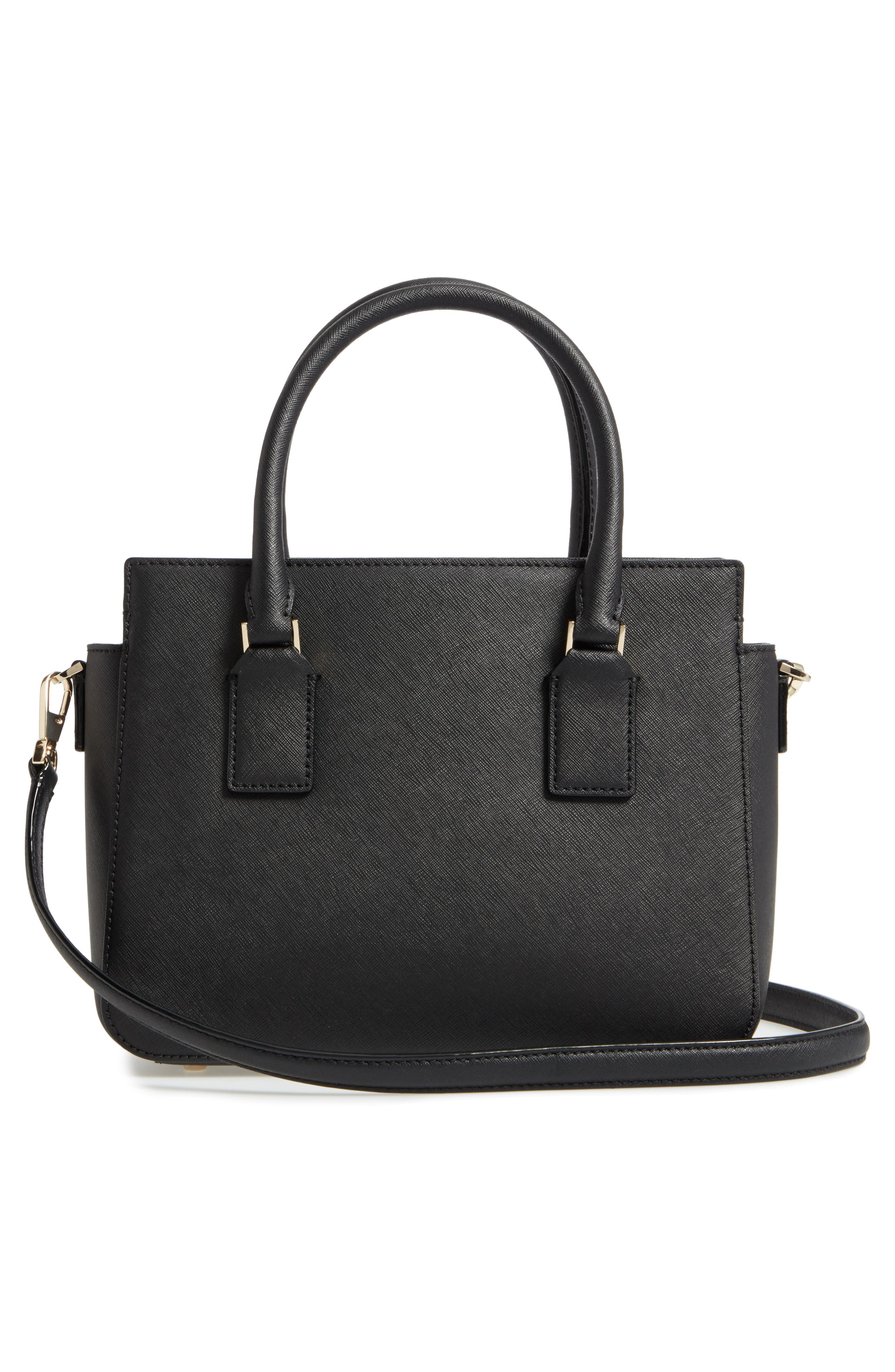 cameron street - small sally leather satchel,                             Alternate thumbnail 3, color,                             001