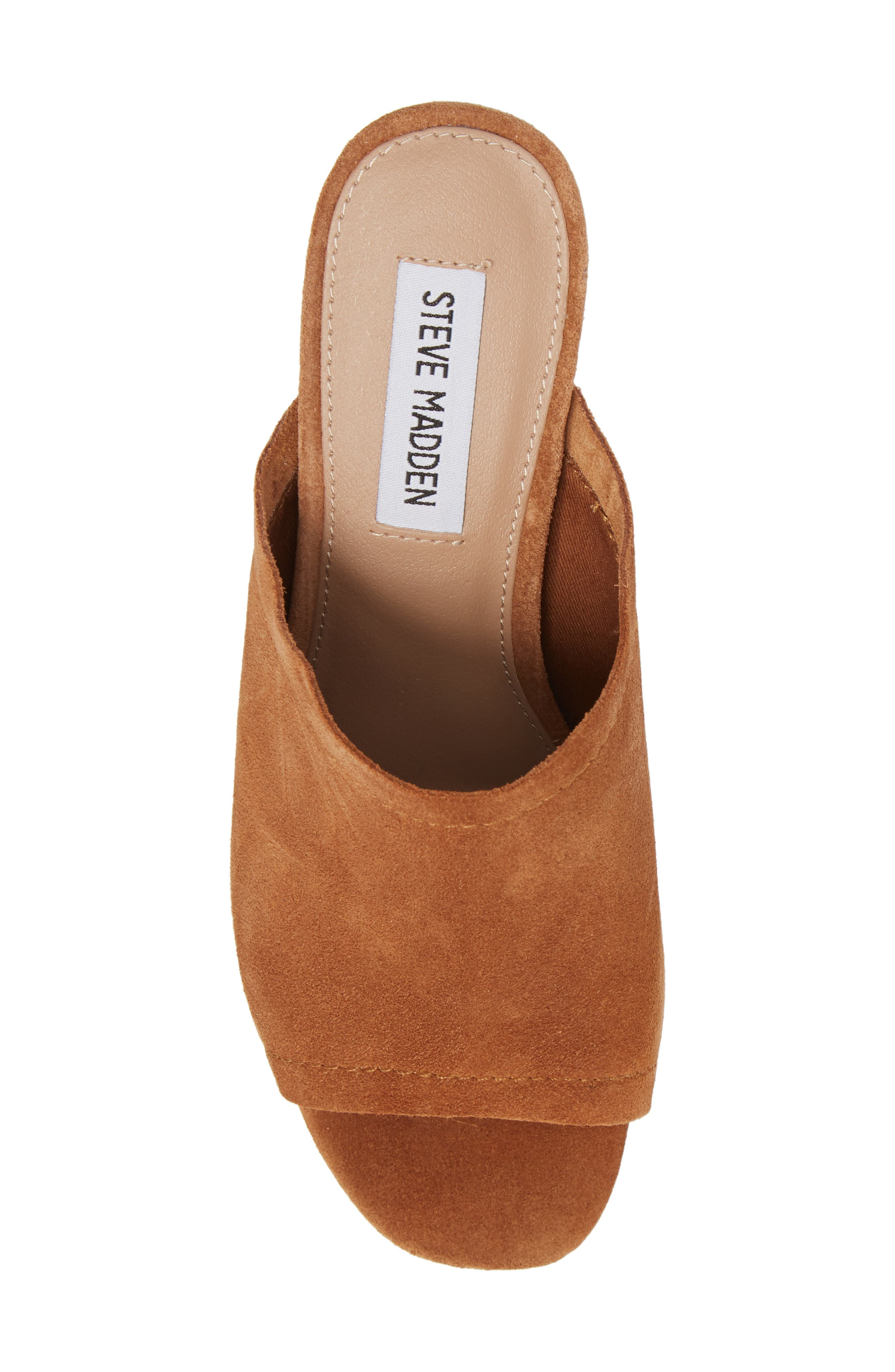 Doran Mule Sandal,                             Alternate thumbnail 5, color,                             CHESTNUT SUEDE
