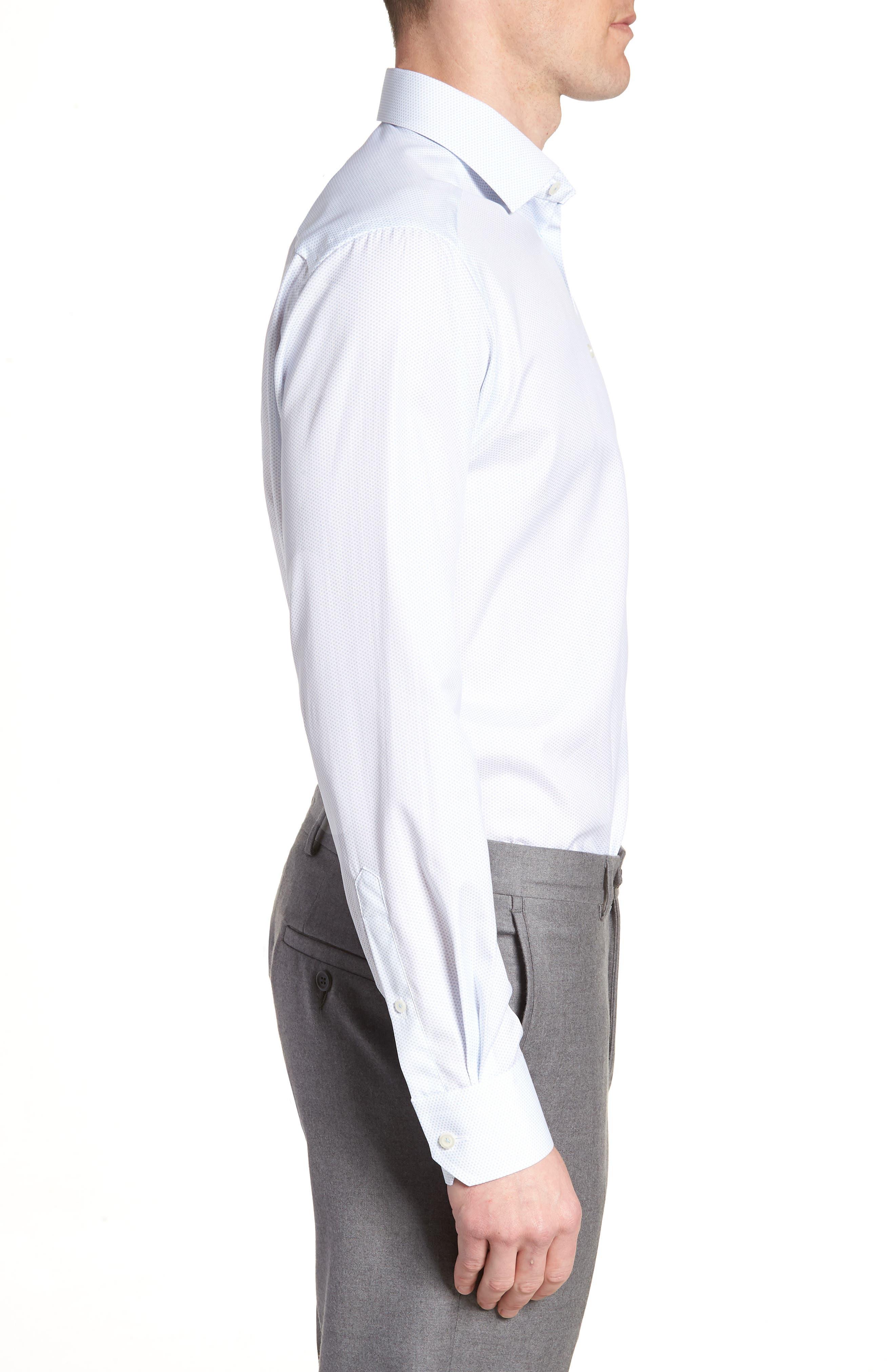 Contemporary Fit Print Dress Shirt,                             Alternate thumbnail 4, color,