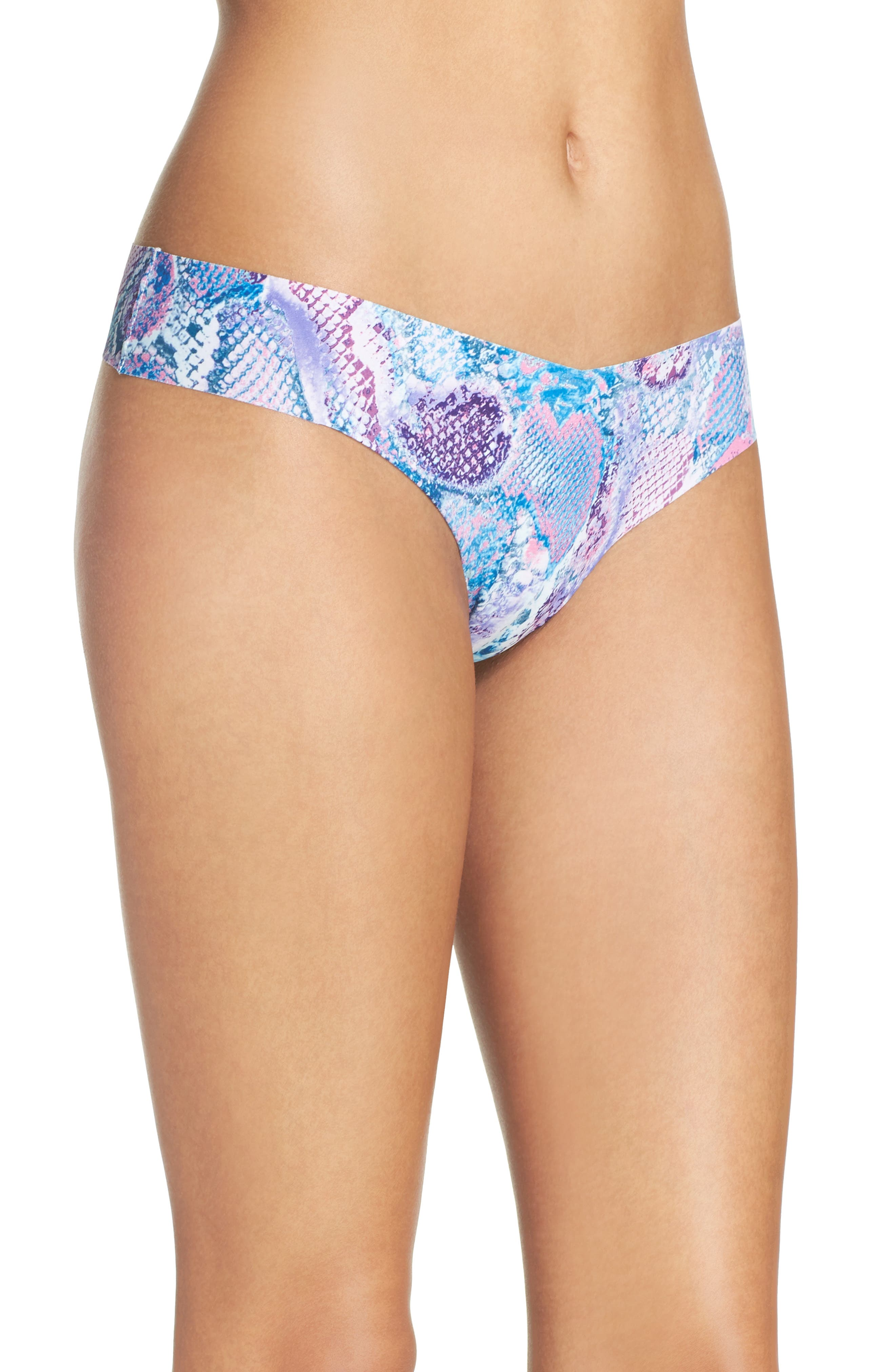 Print Microfiber Thong,                             Alternate thumbnail 290, color,