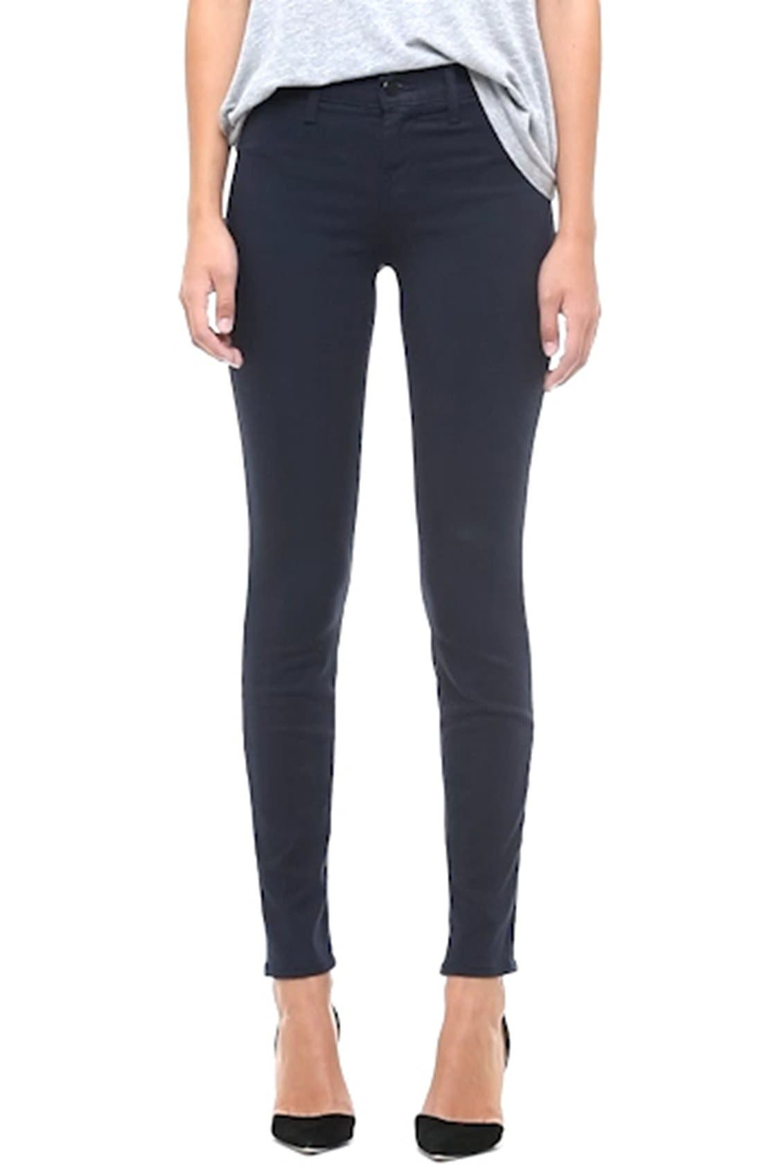 High Waist Ankle Super Skinny Jeans,                             Alternate thumbnail 31, color,