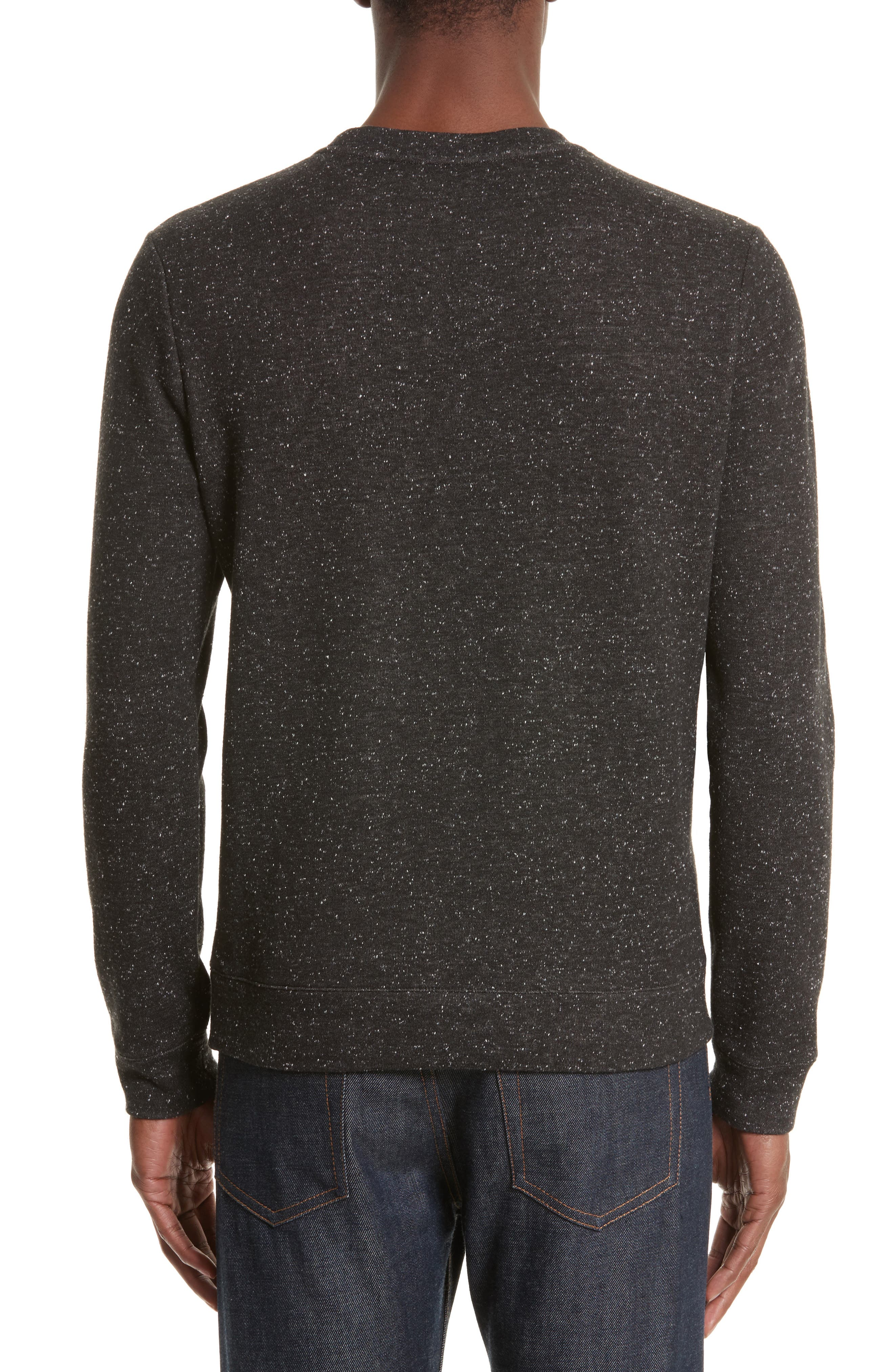 Speckle Sweat Track Sweater,                             Alternate thumbnail 2, color,                             065
