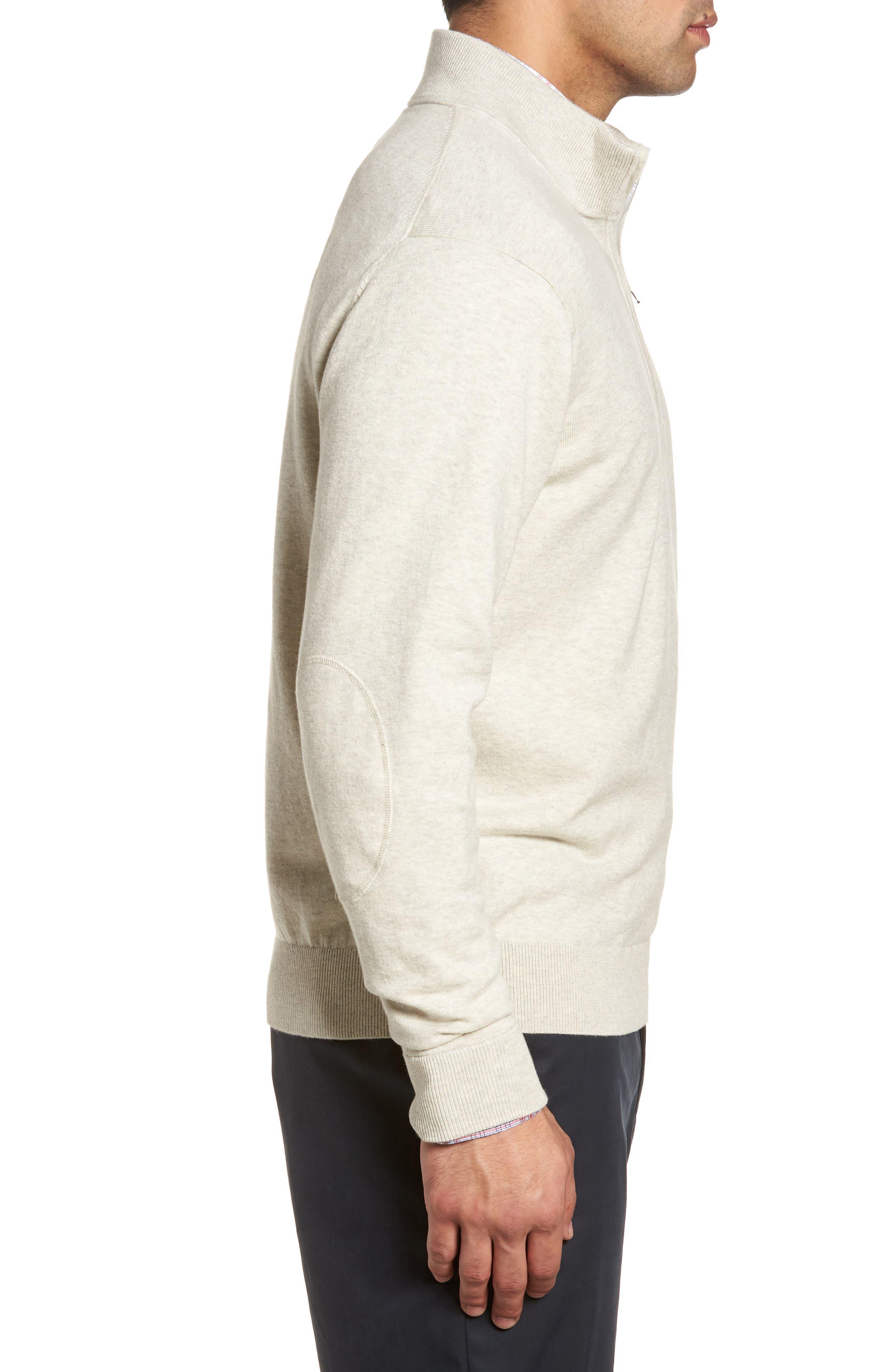 CUTTER & BUCK,                             Lakemont Classic Fit Quarter Zip Sweater,                             Alternate thumbnail 3, color,                             OATMEAL HEATHER